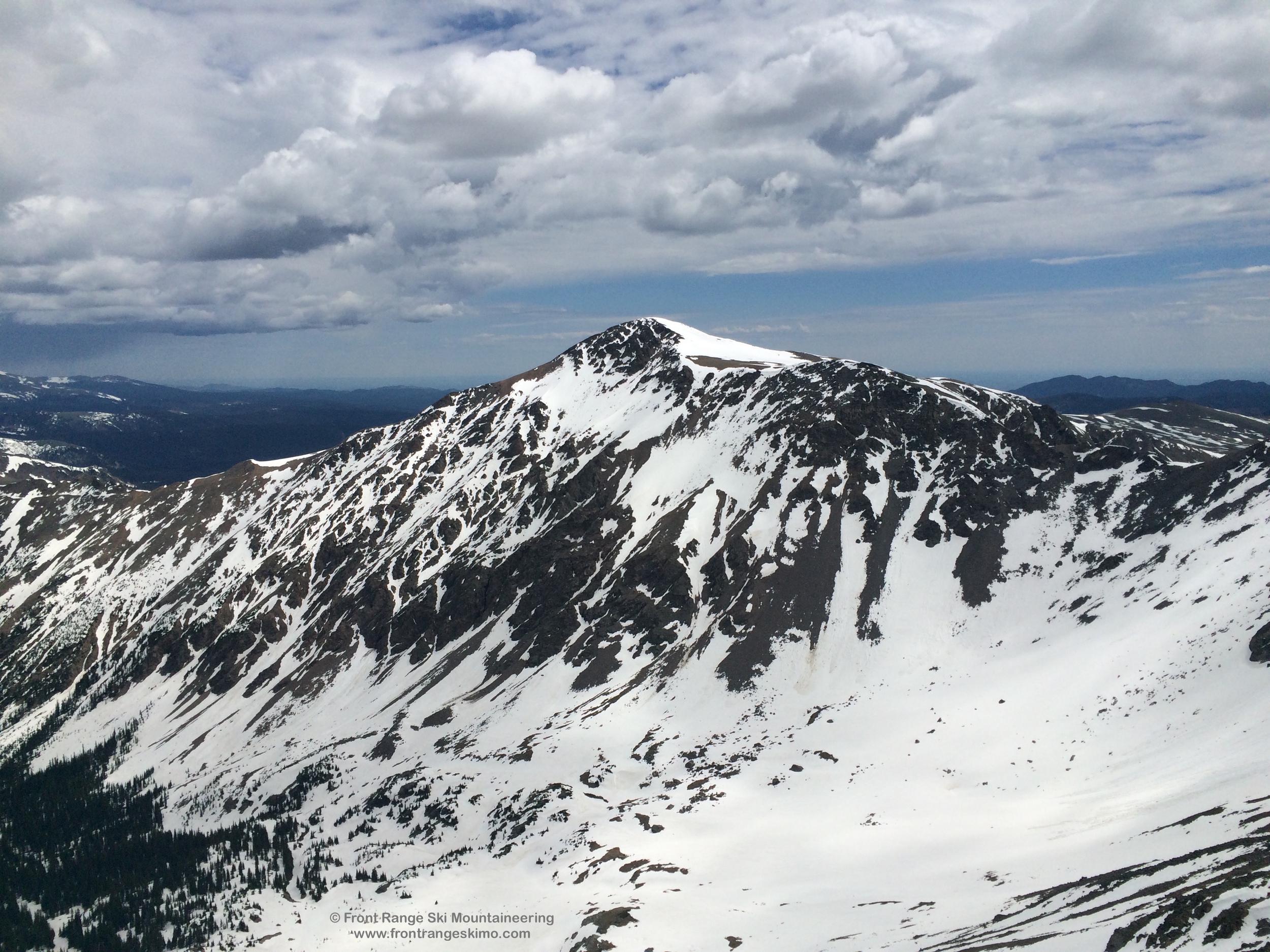 The west side of James Peak.