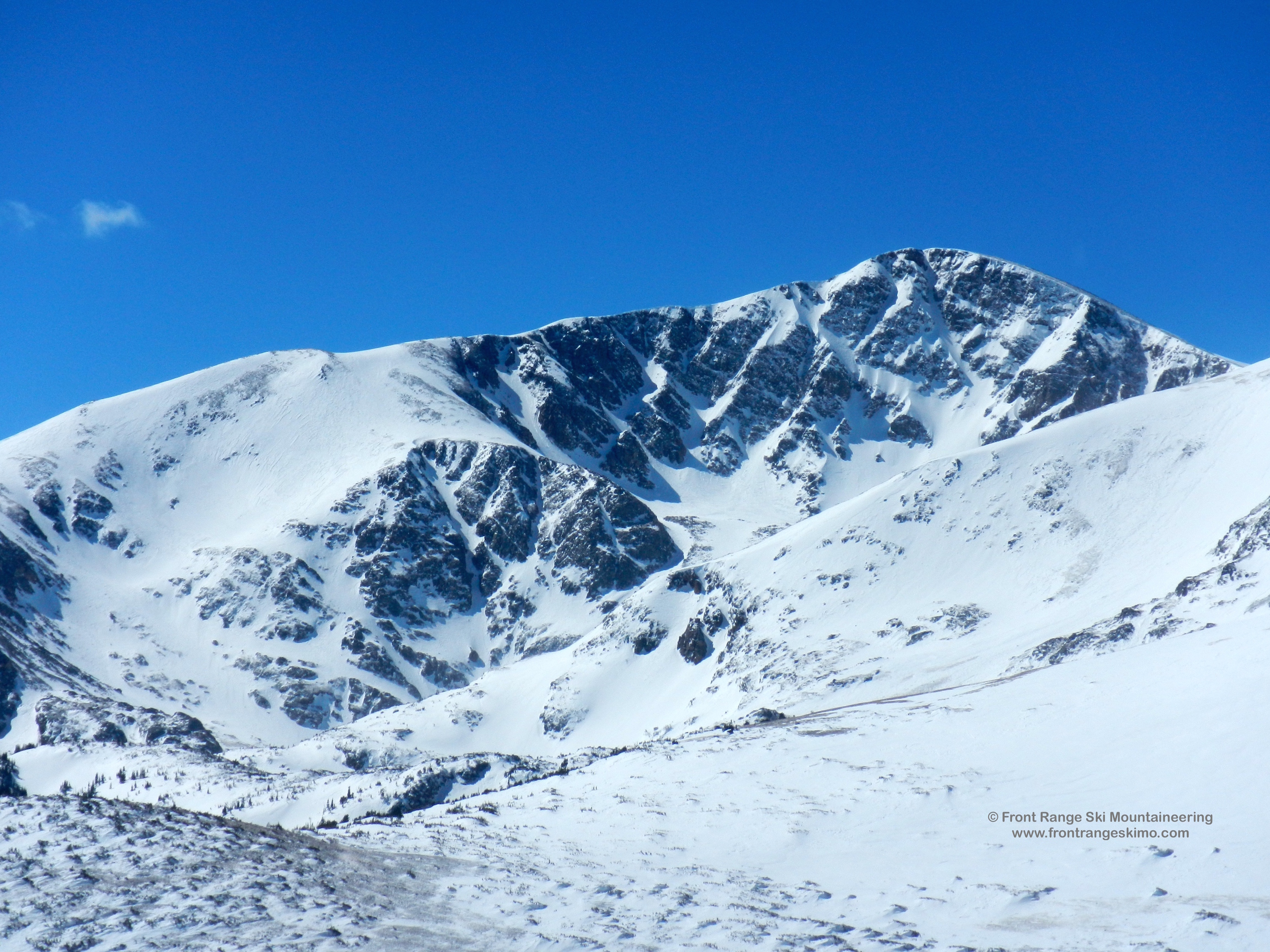 James Peak and Bailout from the east.