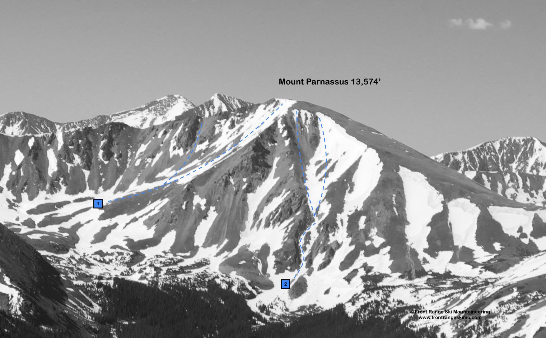 Mount Parnassus North Face