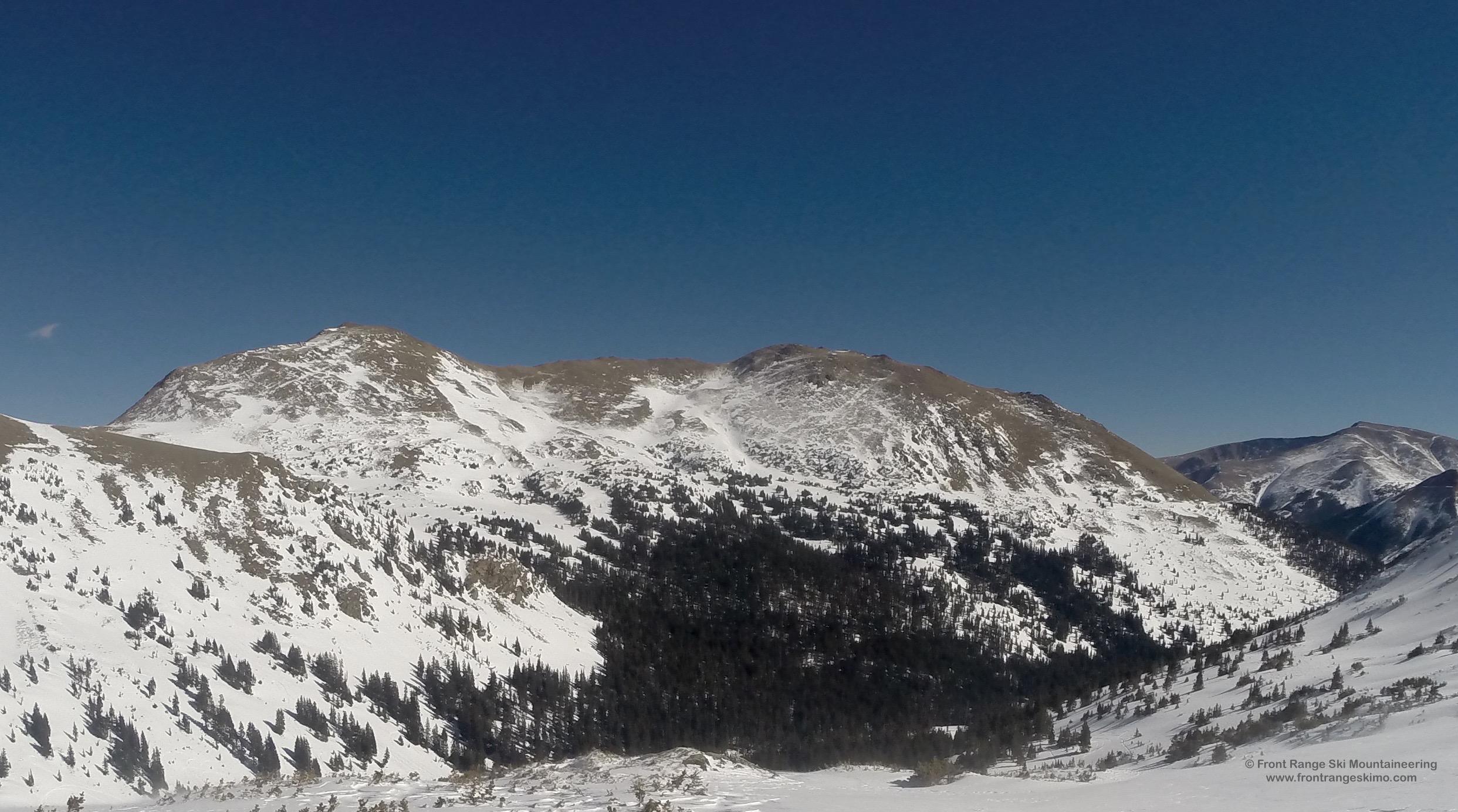 Vasquez Peak from the west.