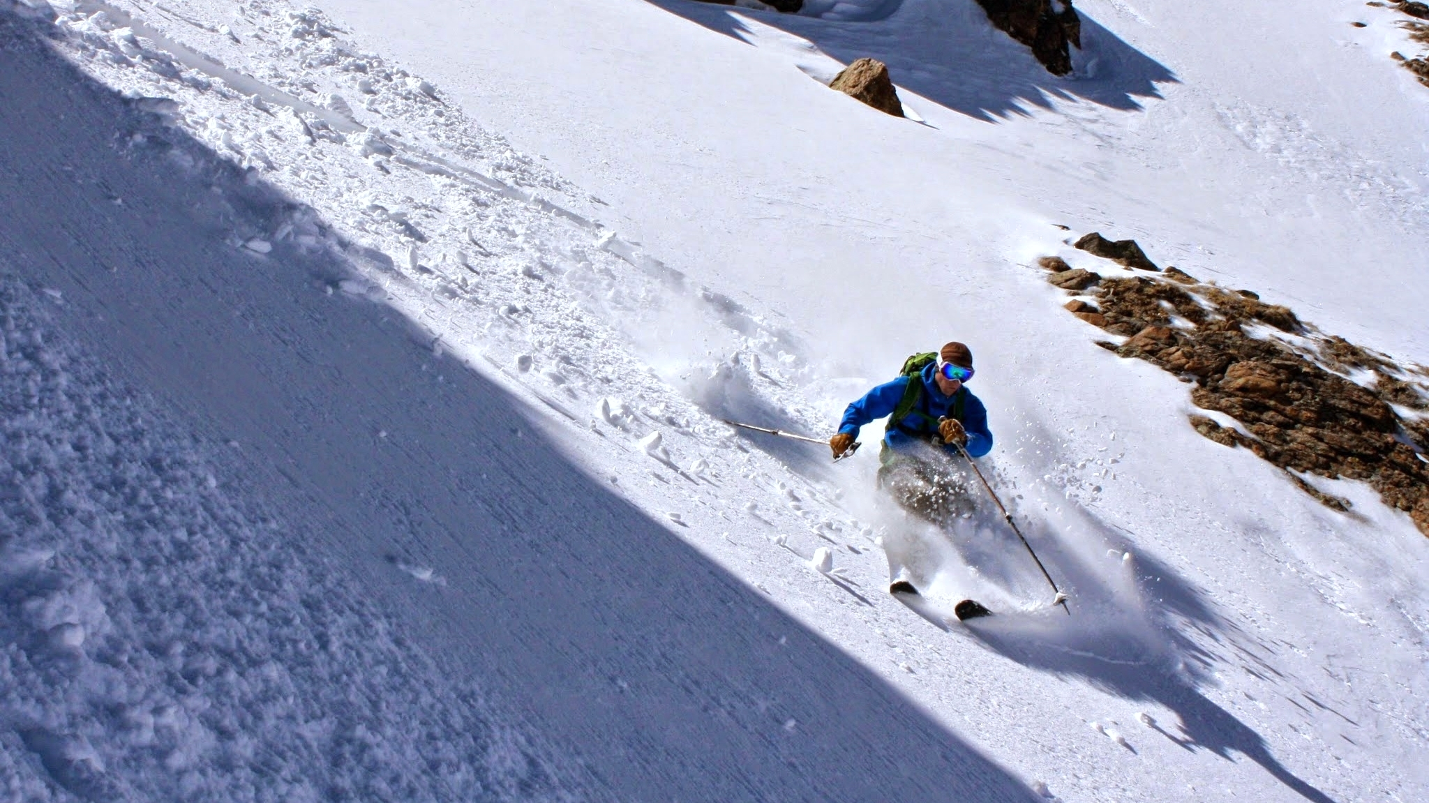 Skiing Witter's Welcome Couloir