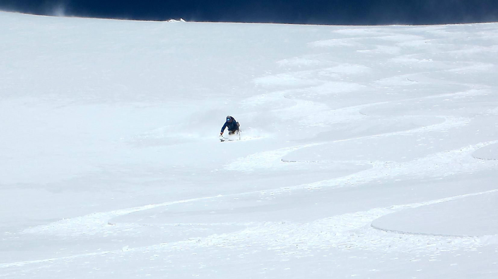 Skiing Eva's Southeast Face