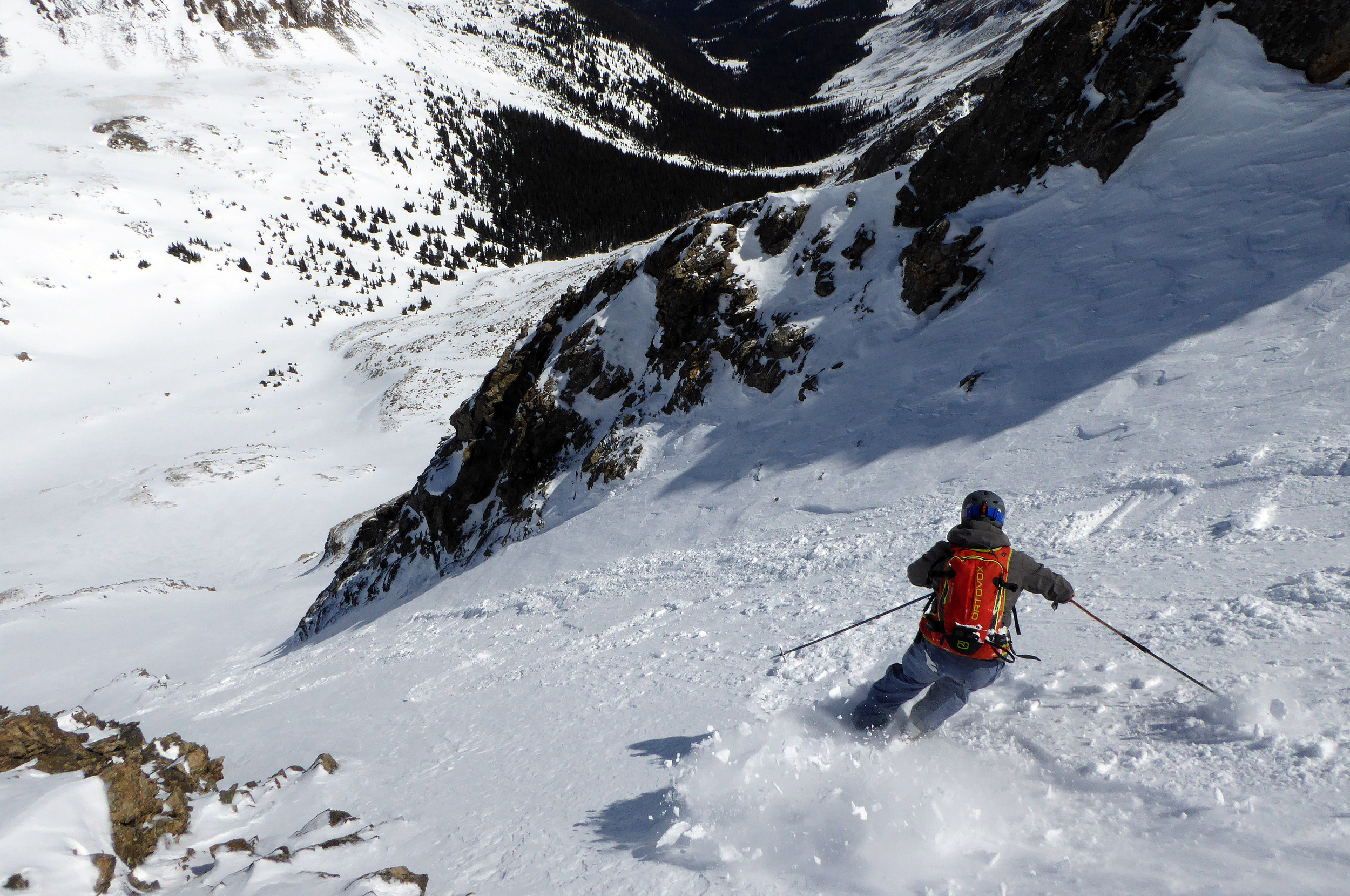 Skiing Grizzly's North Slope.