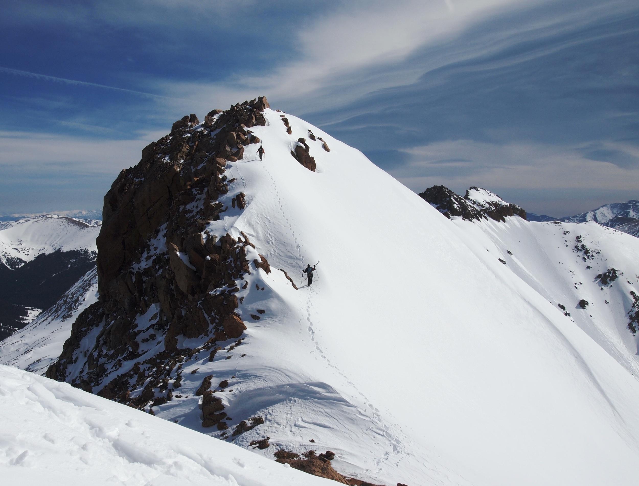 Climbing to Hagar's summit.