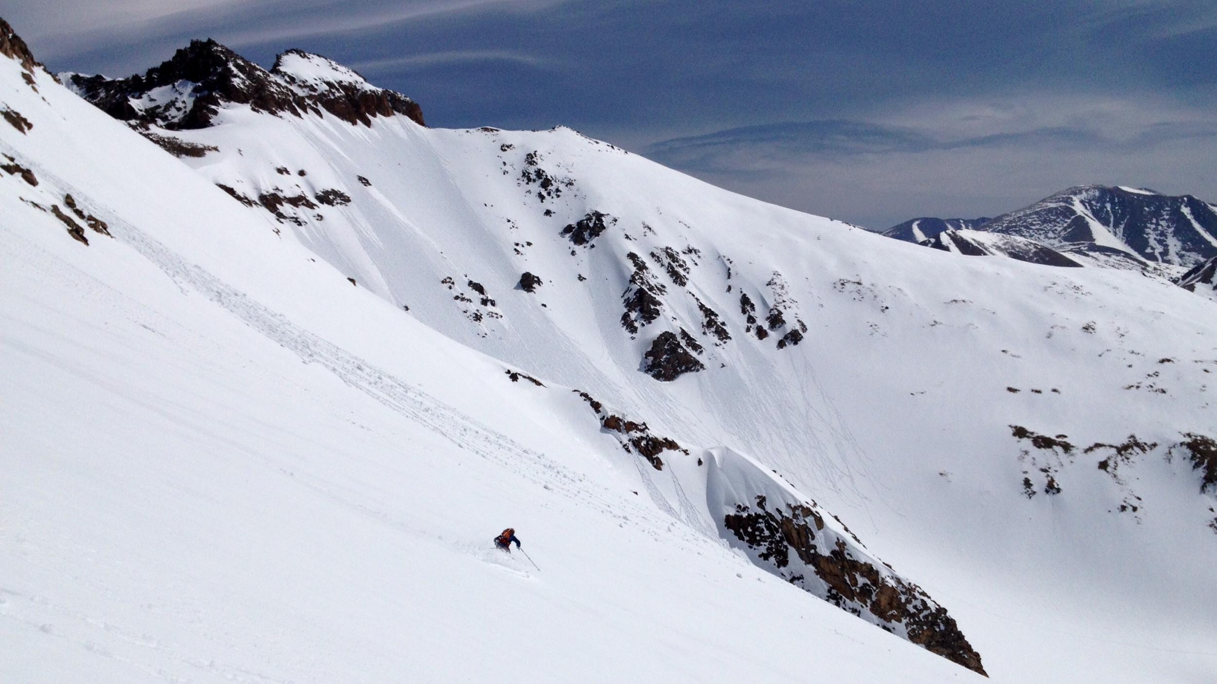 Skiing Hagar's Southeast Face.