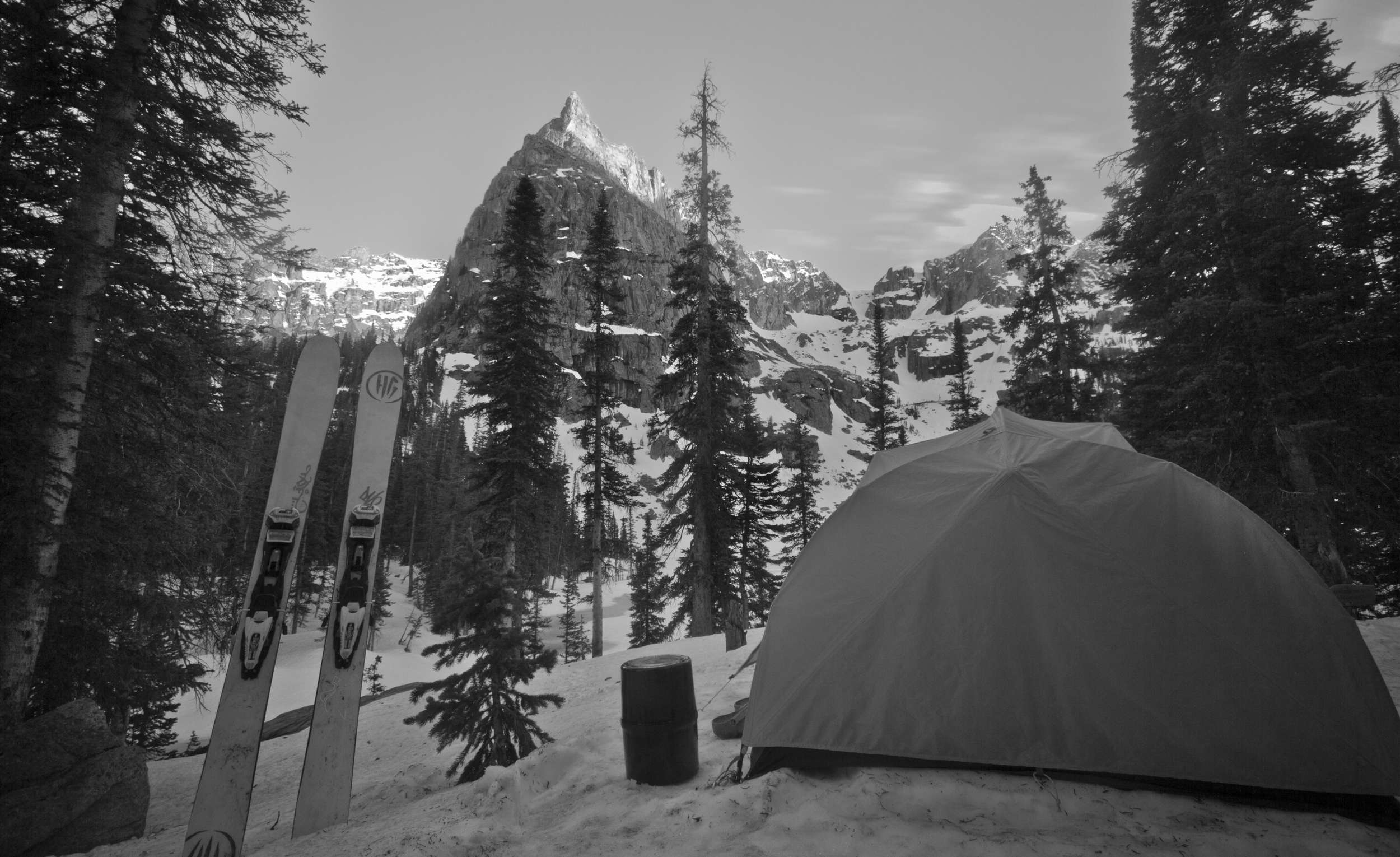 Camping in Lone Eagle Cirque.