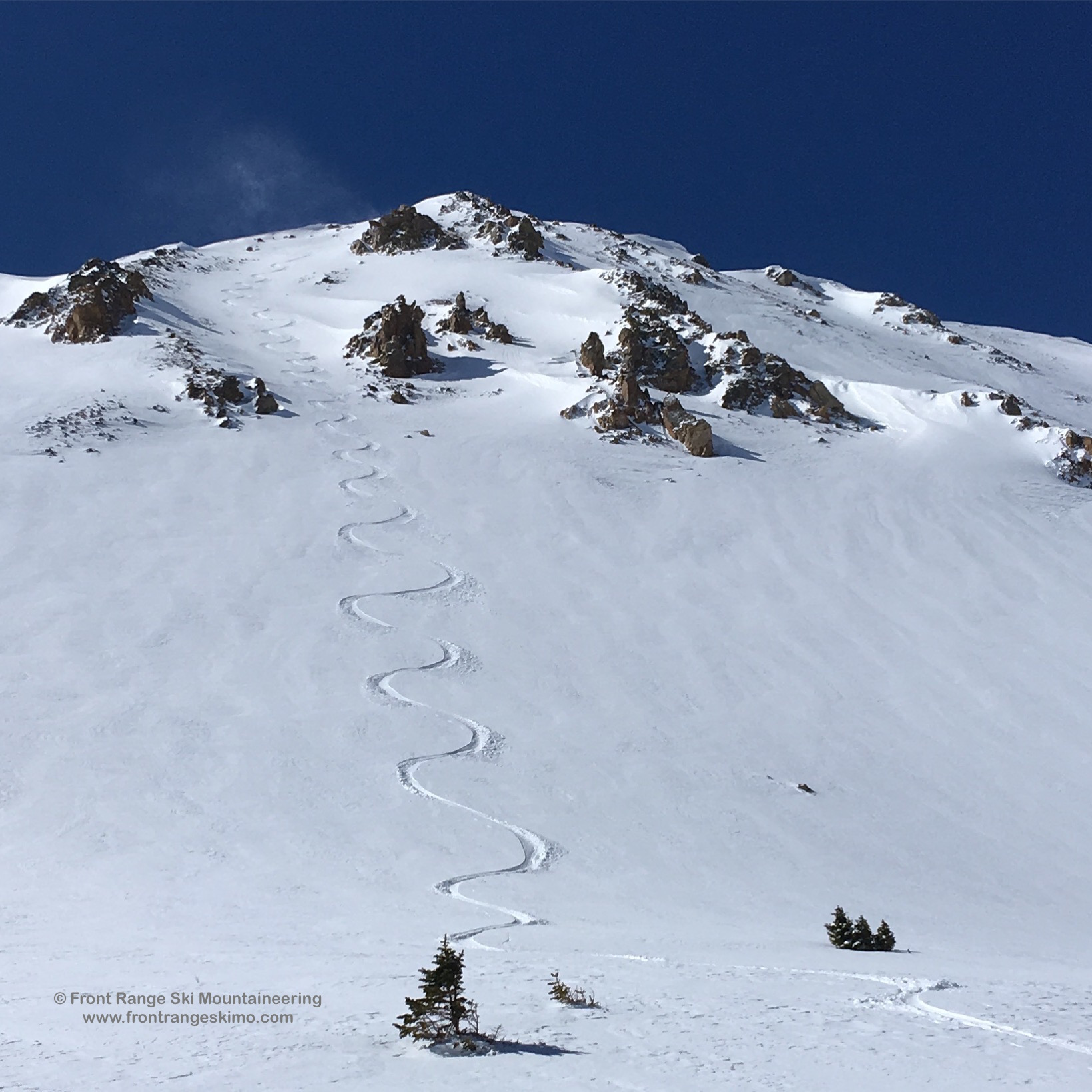Skiing the North Face of No Name.