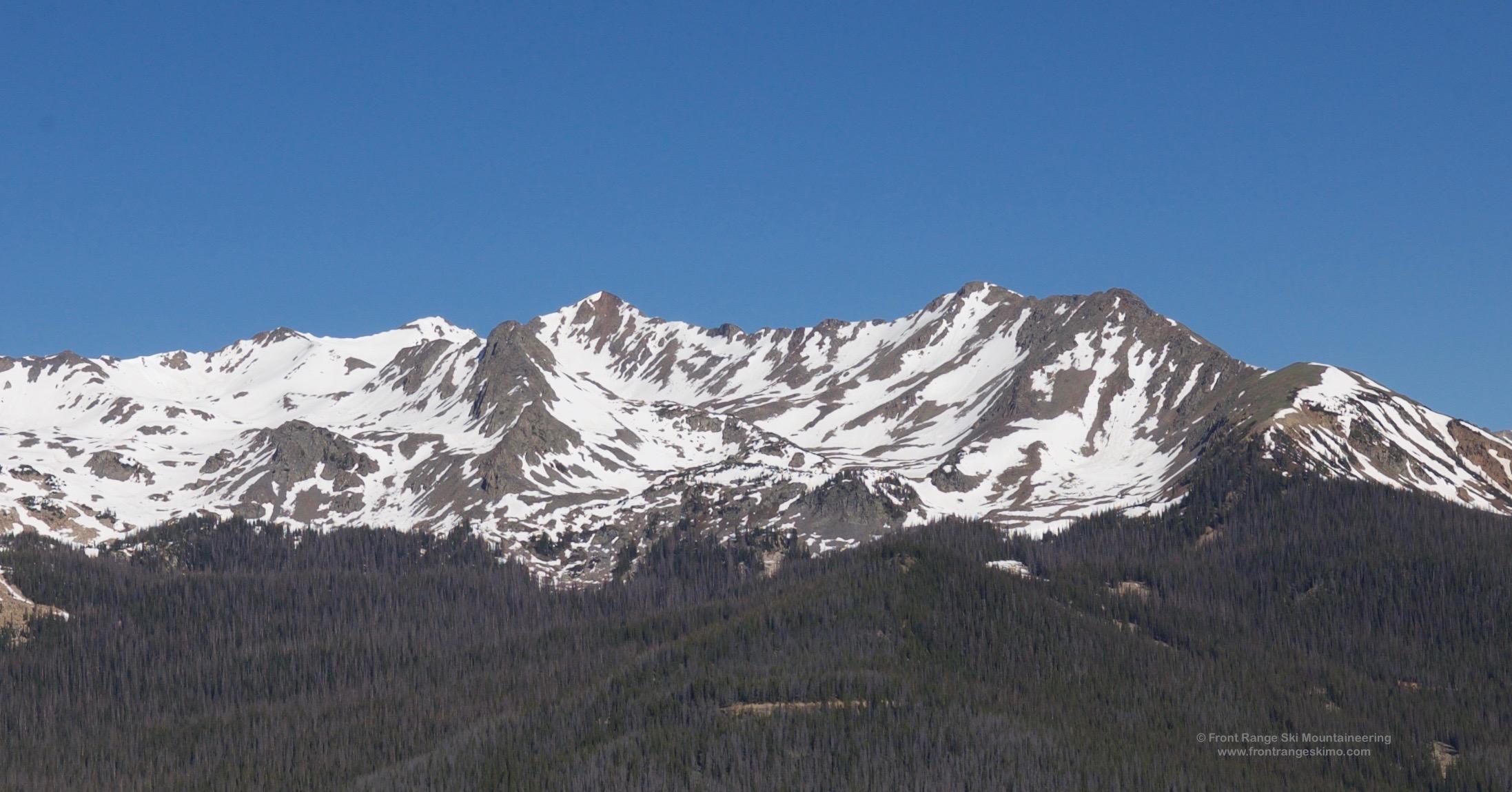 Howard Mountain as seen from Trail Ridge Road.