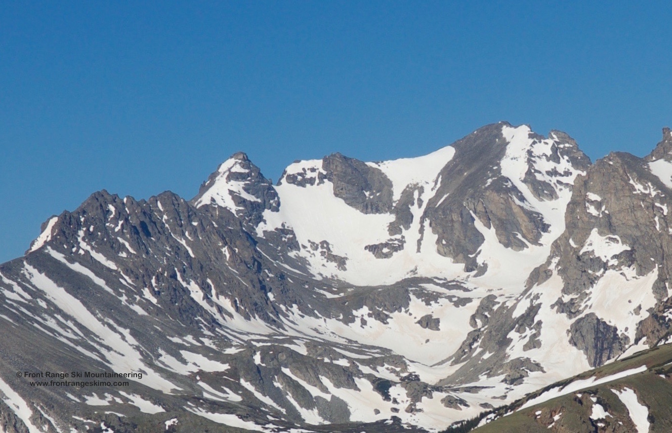 Navajo Snowfield and Navajo Peak from the North.