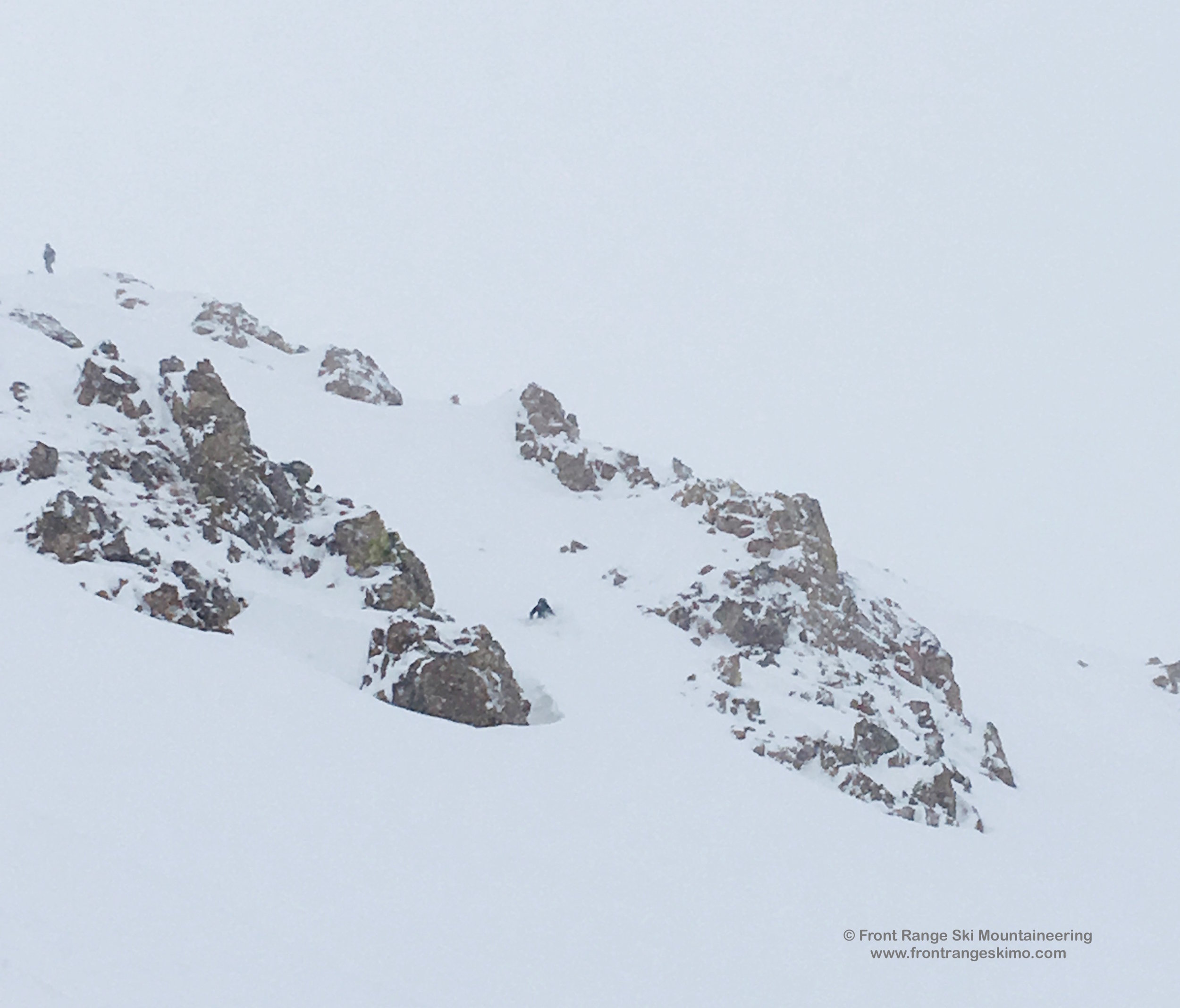 Skiing Mount Russell's North Chutes