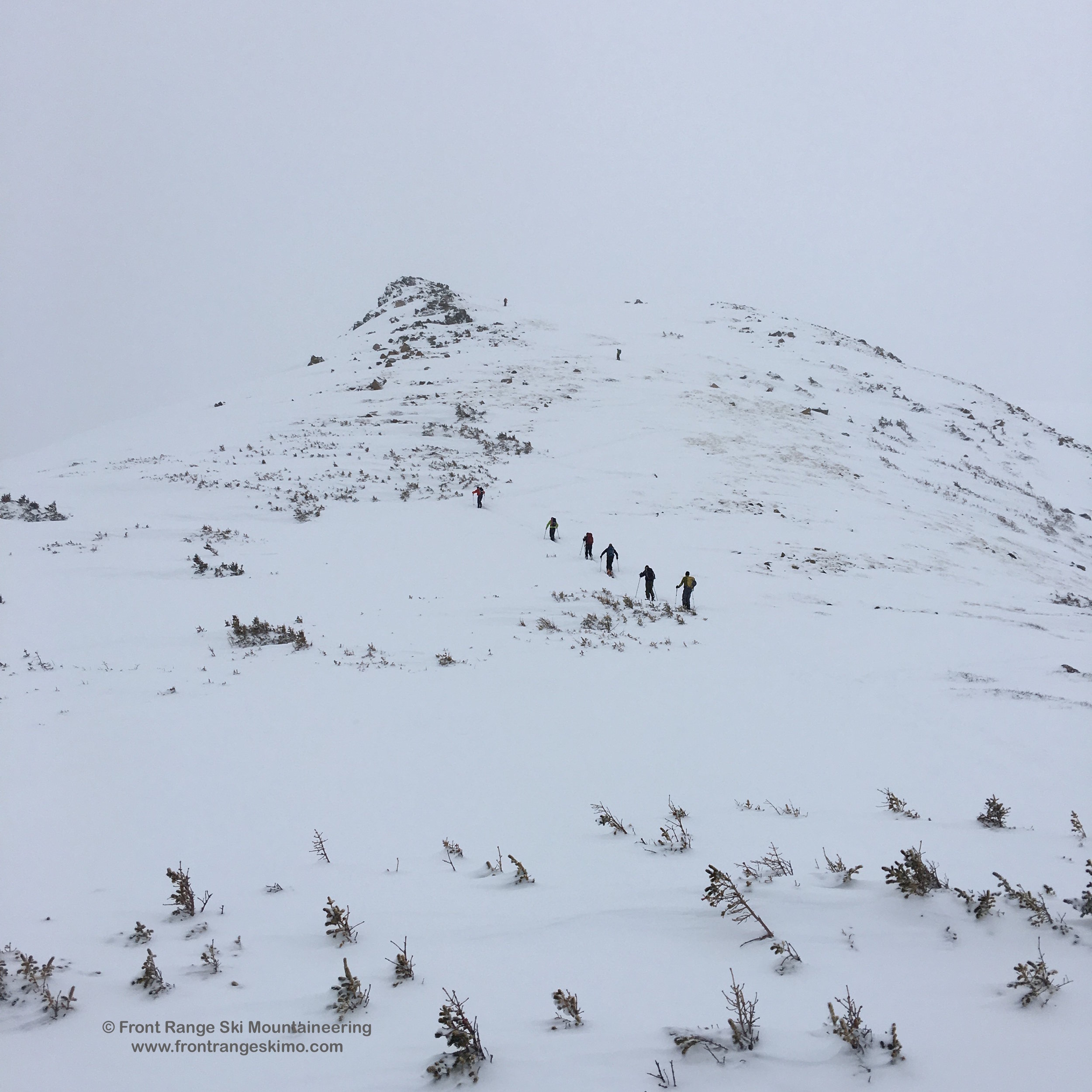 March of the Penguins up Mount Russell