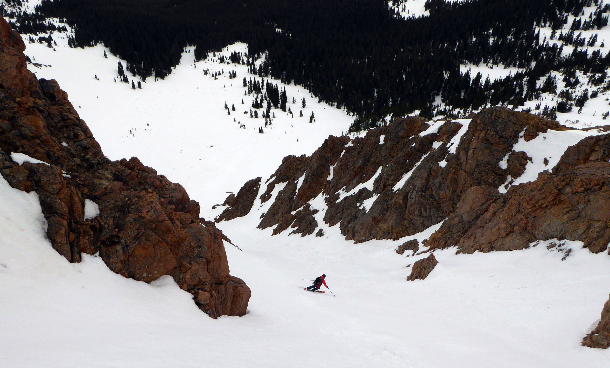 Skiing the Drainpipe.