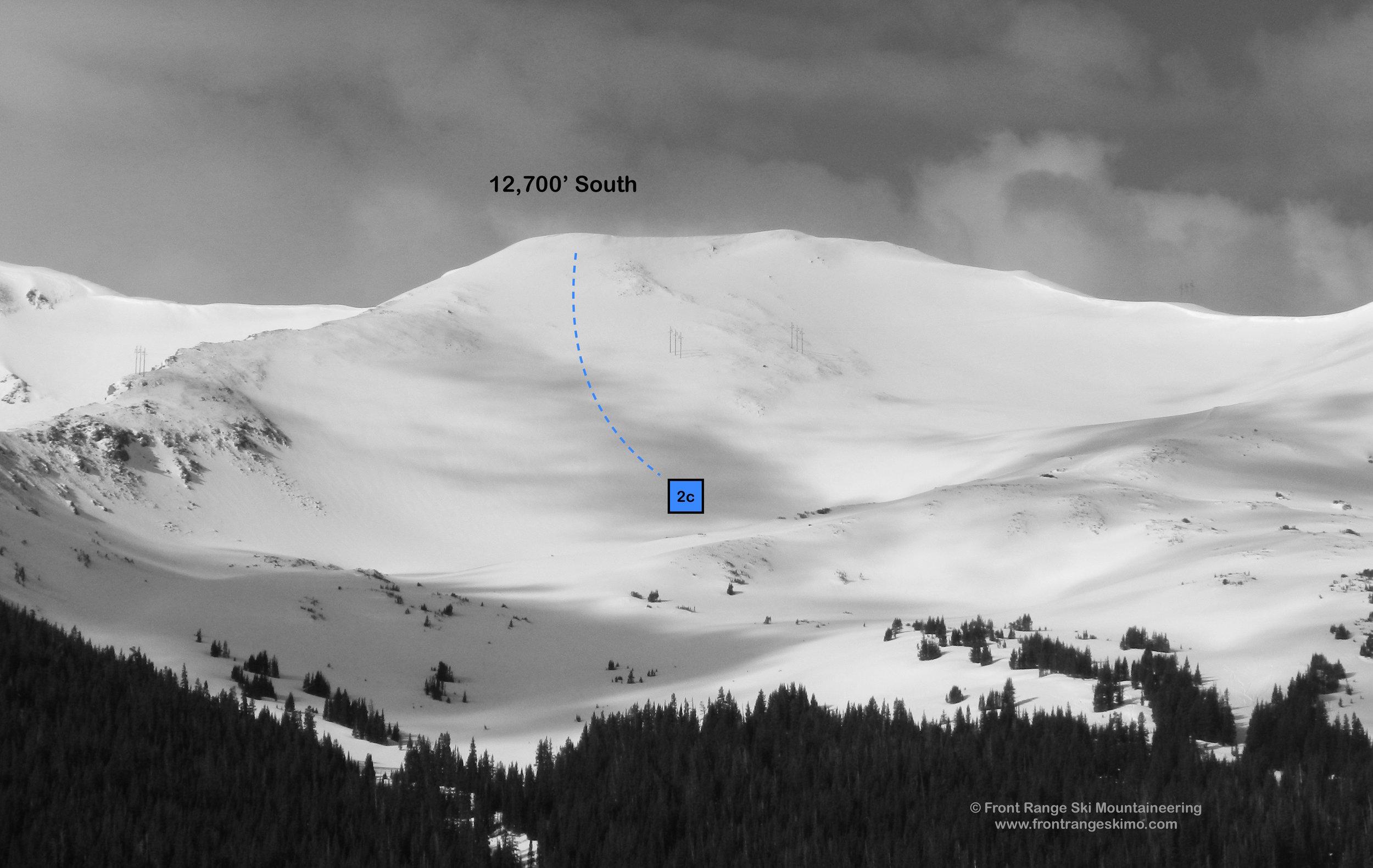 The South Twin 12,700' Peak at Jones Pass.