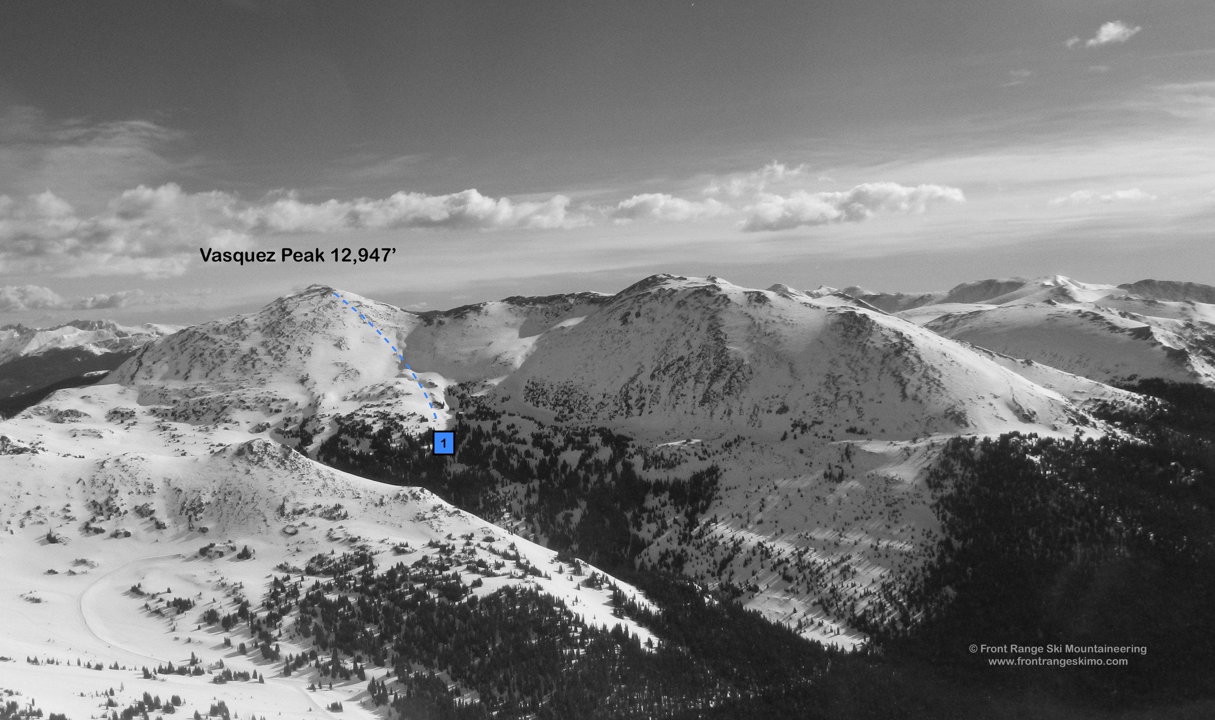 Vasquez Peak from the south. Photo: Rob Writz
