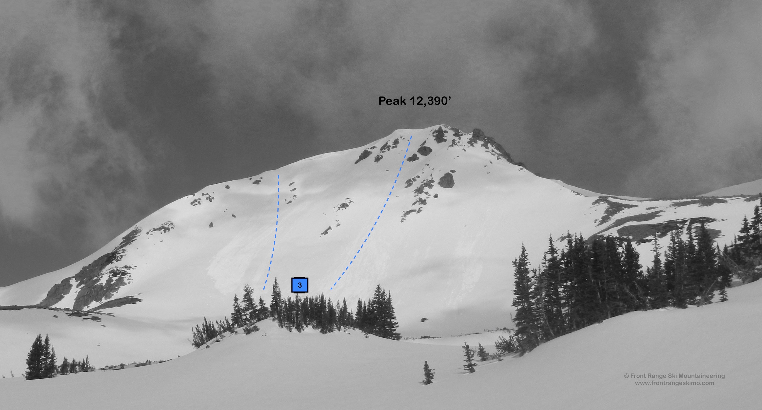 Peak 12,390' from the east.