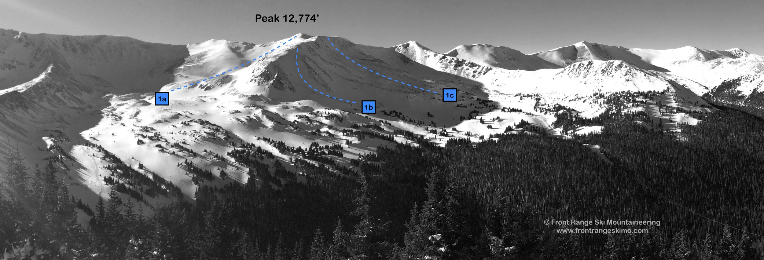 Peak 12,774' from the east.