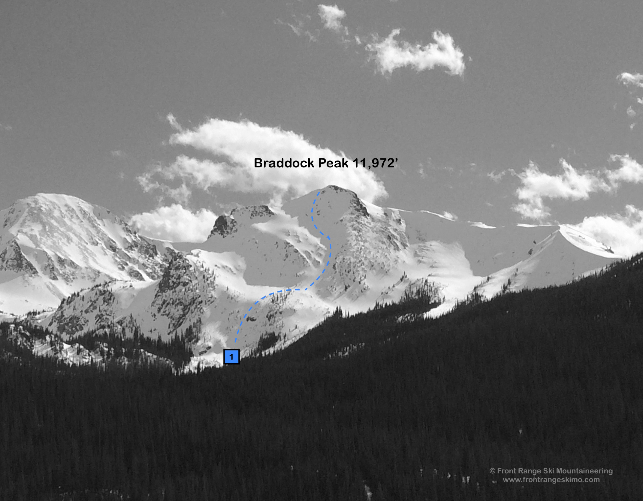 Braddock Peak from the north. Photo: Rob Writz