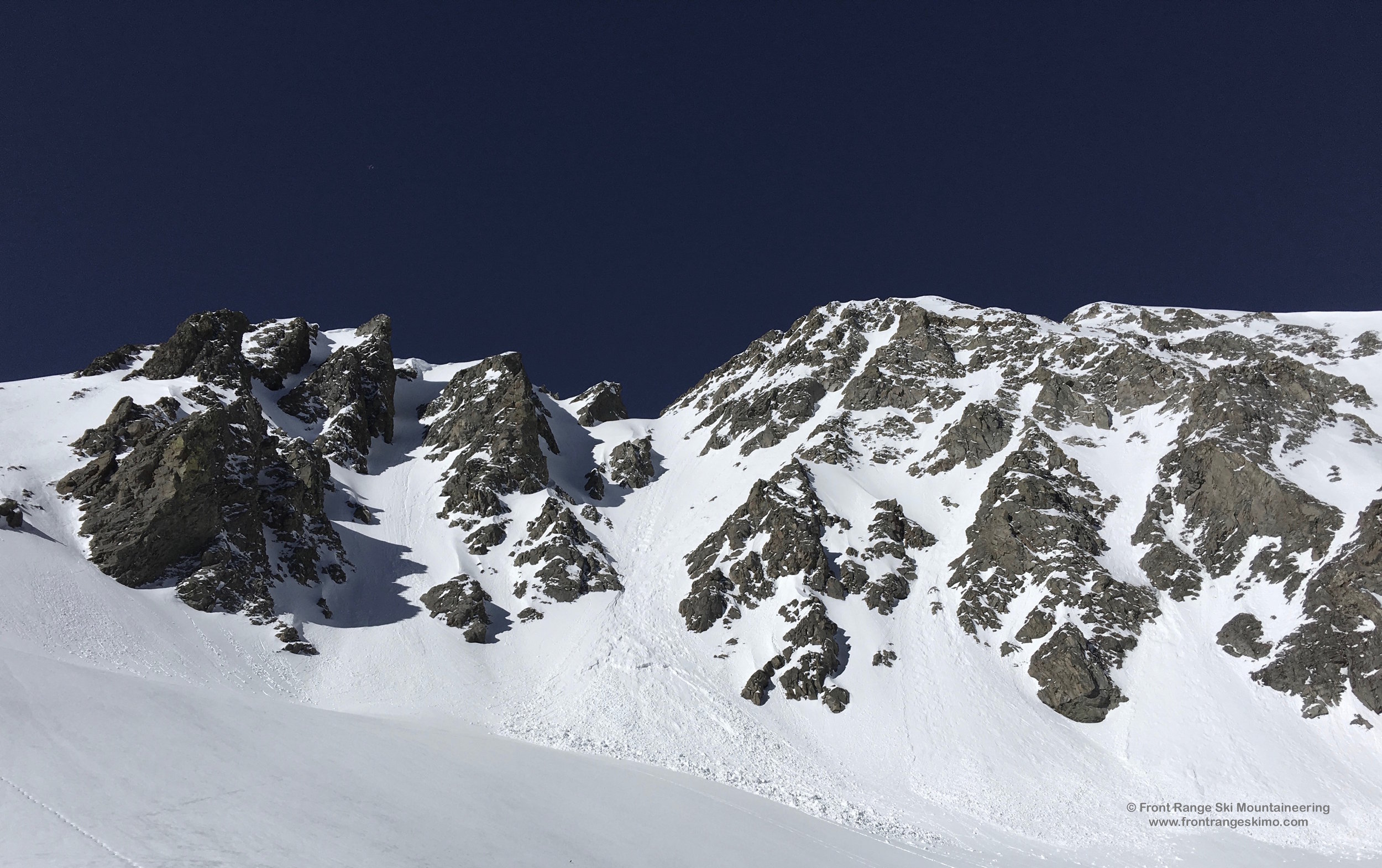 A closer look at the X Couloirs.