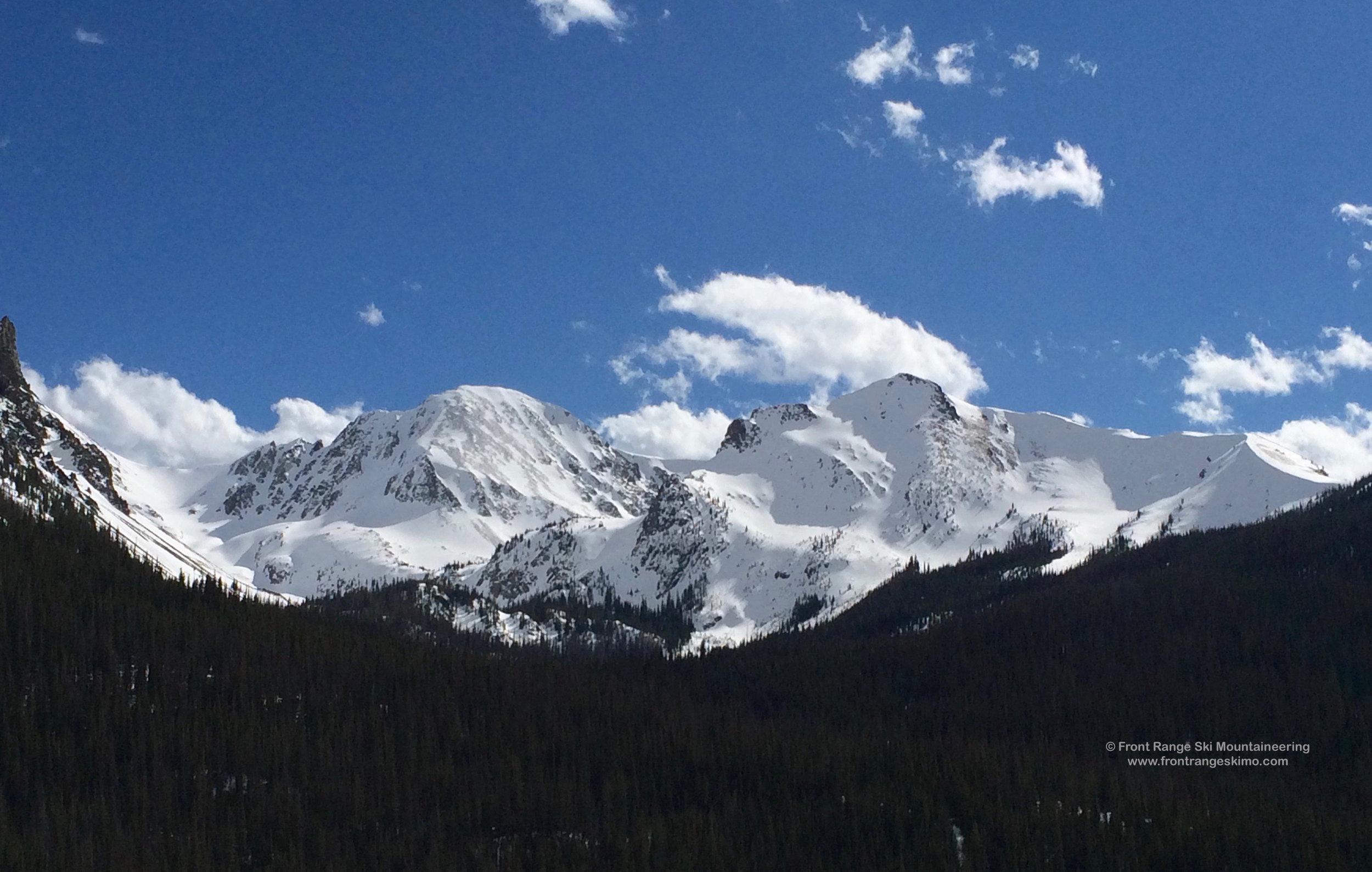 Mount Mahler and Braddock Peak as seen from Highway 14.