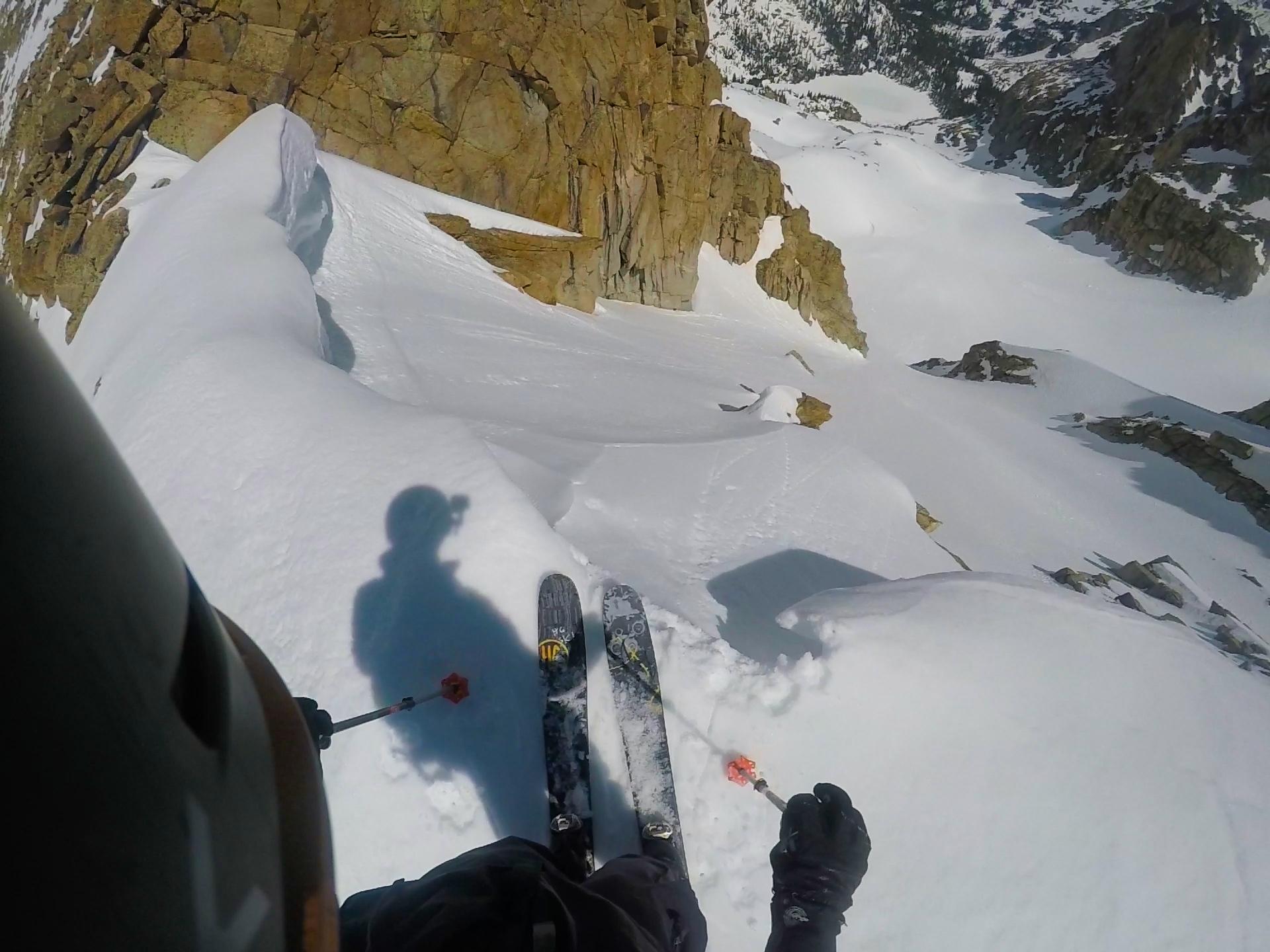 Looking down the Peck Glacier.