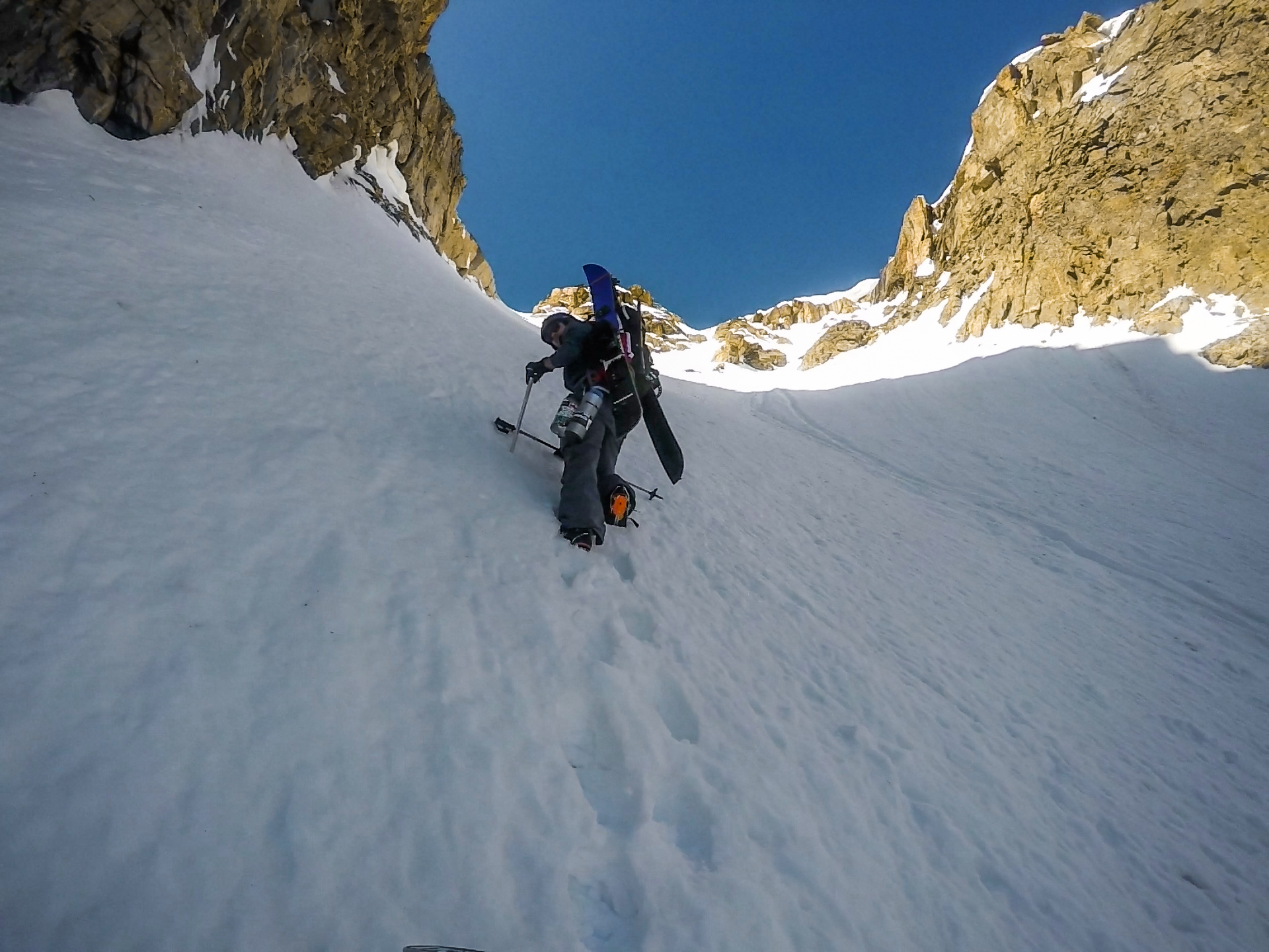 Climbing Mount George Couloir.