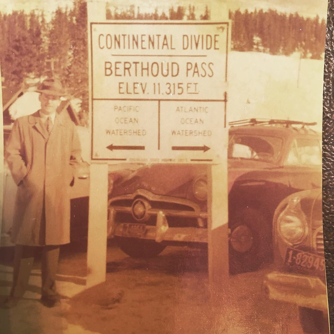My grandfather, Jack Molthop, at Berthoud Pass in 1949.