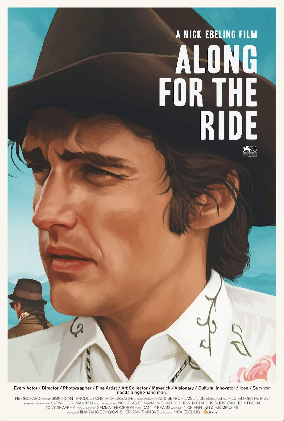 - ALONG FOR THE RIDE explores the highs, lows and phoenix-like ascension of iconic Hollywood maverick Dennis Hopper - as seen through the eyes of his longtime right-hand man and devoted friend, Satya de la Manitou. Nick Ebeling's debut feature film chronicles the unlikely duo's incredible 40+ year journey and enduring bond, as intimately complex as Hopper's own legendary career.Featuring: David Lynch, Wim Wenders, Ed Ruscha, Frank Gehry, Russ Tamblyn, Dean Stockwell, Linda Manz, Michael Madsen, Dwight Yoakam, and Damon Albarn & Jamie Hewlett of Gorillaz. Original Score by Gemma Thompson of Savages