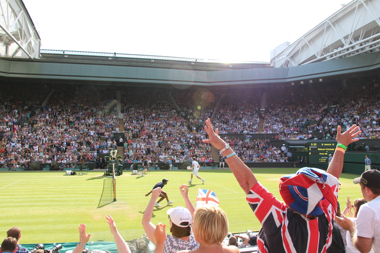 Andy wins Wimbledon, but I feel just as lucky.