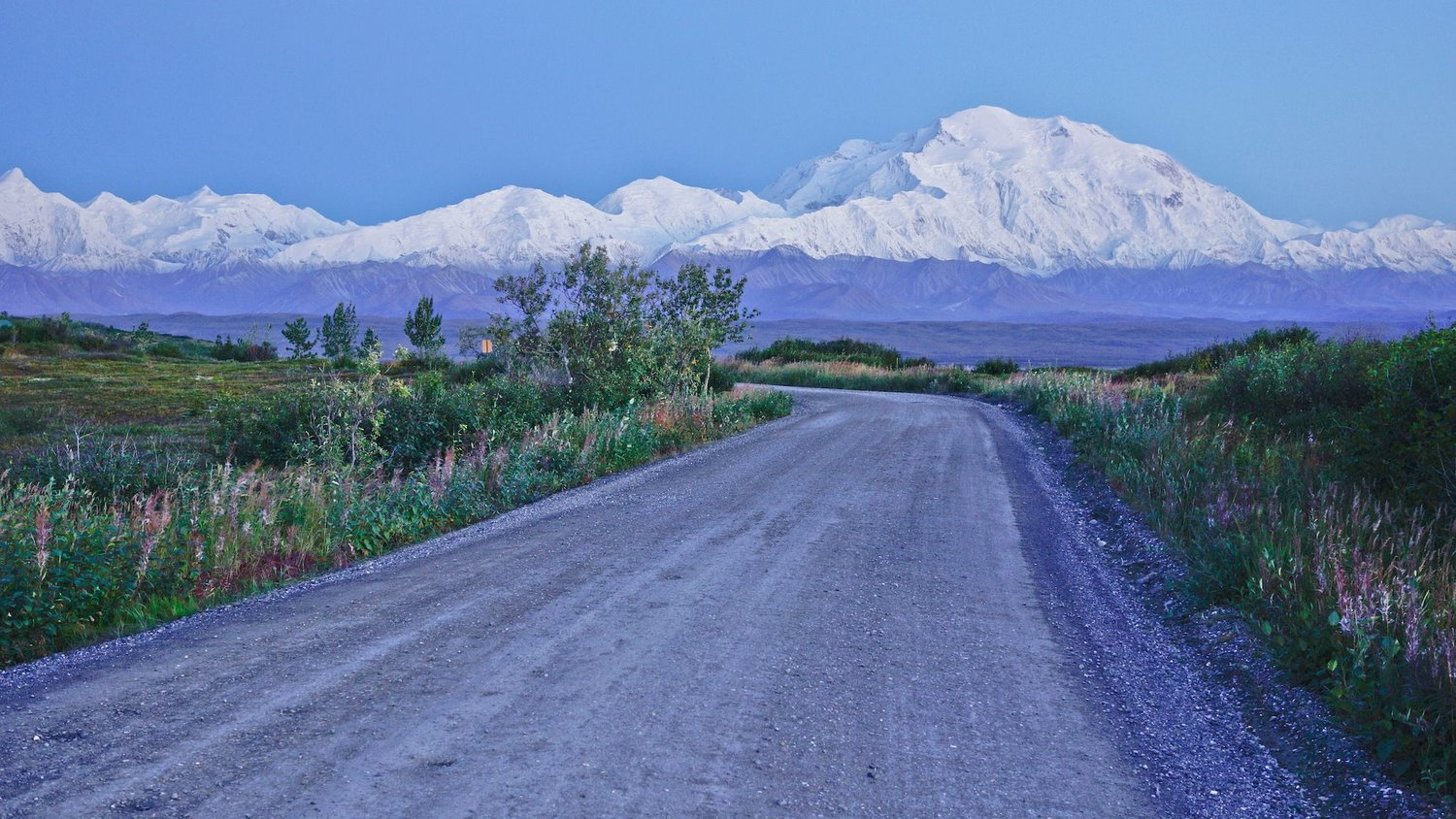 The most spiritual moment I have ever had on a bike, and possibly in my life: bike touring Alaska, late at night in fall, alone on the Denali Park Road above Wonder Lake, watching the pink rays hit Denali's northern 18,500ft rise at blue-hour. It brought me to tears, to see something so heartwarmingly beautiful and realize at that moment, I was doing exactly what my heart desires.