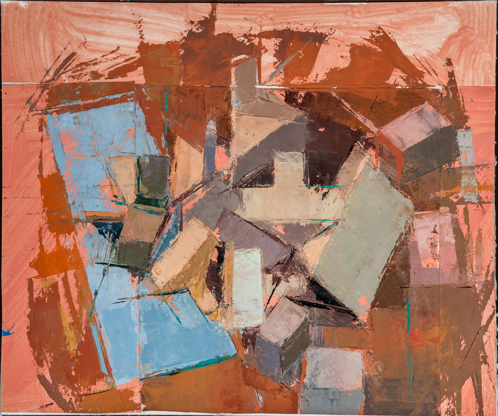 Blocks and Bones (Sketch), Paint on Paper 9 x 12 Jesse Thomas