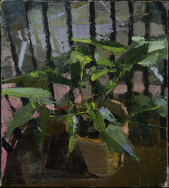 Night Plant, Home Made Oil on Linen 15 x 11 Jesse Thomas
