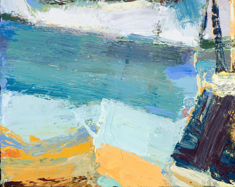 Lake Chautauqua (Stanley Lewis Shake Up), Home made Oil Paint on Panel 9 x 11 Jesse Thomas