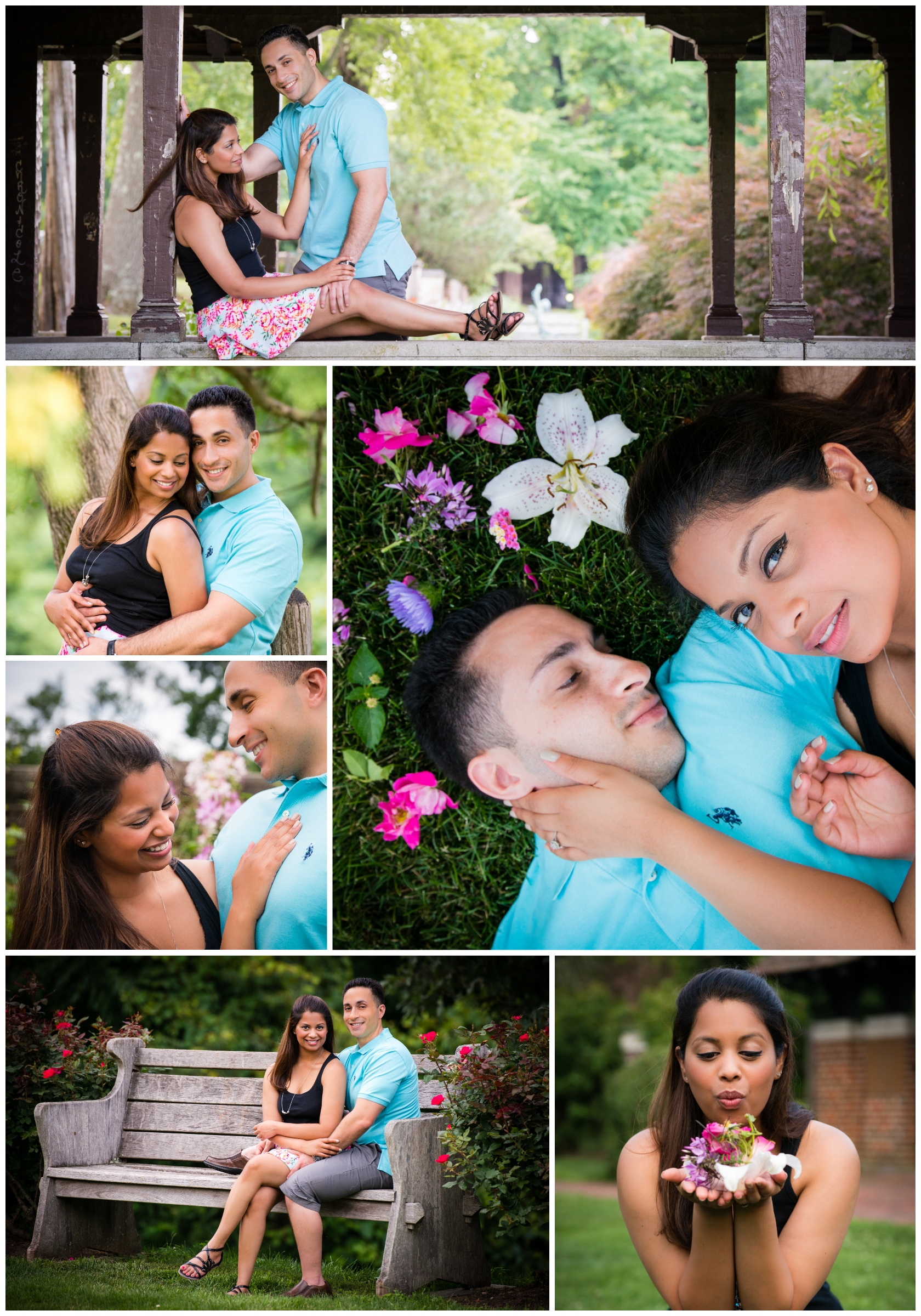 There were so many beautiful spots at Waveny Park to capture that garden theme for this couples session.