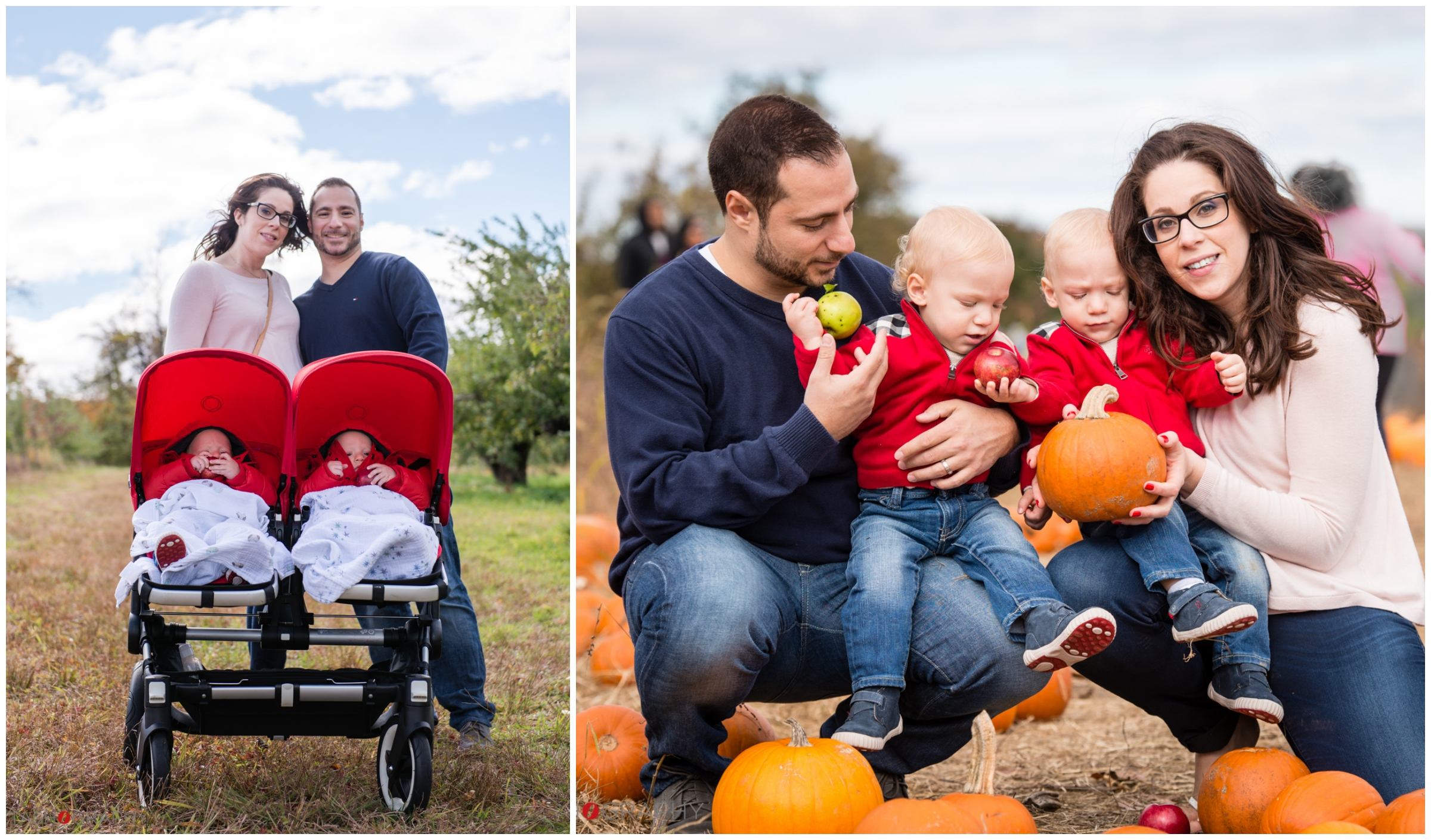The Agnello Family's Fall Family Portraits at Wilkens Fruit and Fir Farm in Yorktown Heights, NY