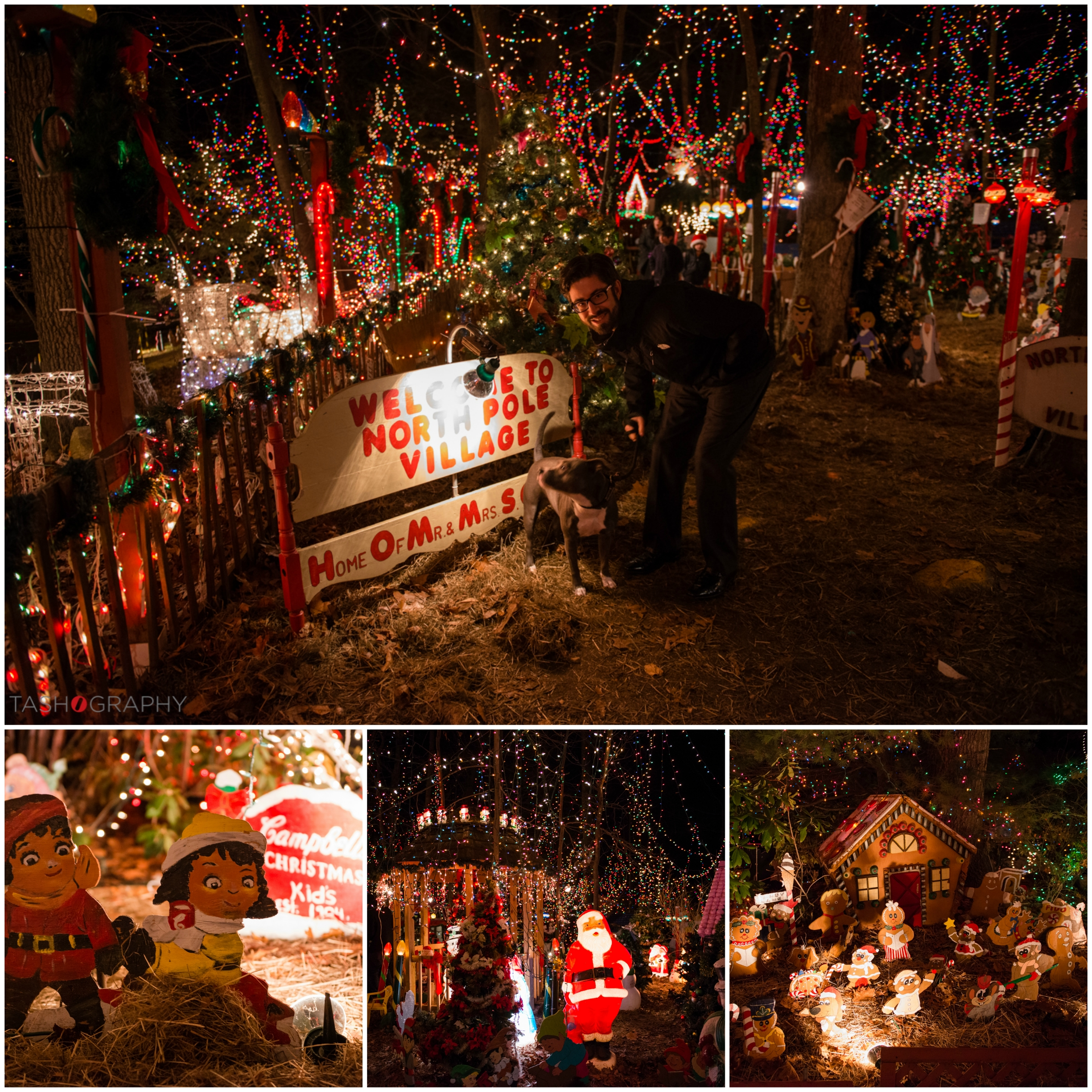 Top image: My husband, Trent and our dog Lulu from the first night we visitedthe Setti's 2014 display.