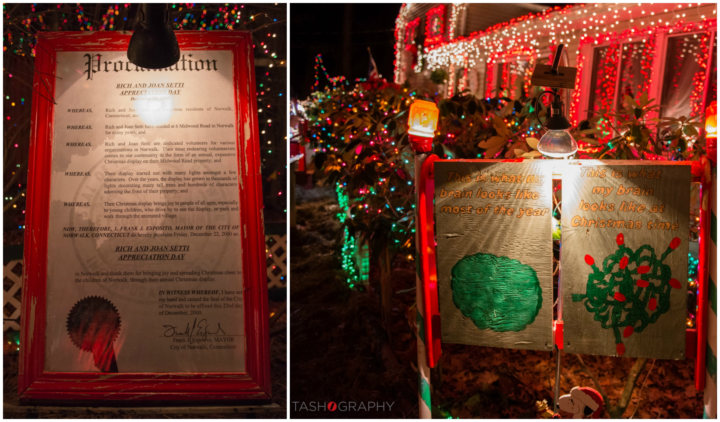 On December 22, 2000,Mayor Esposito of Norwalk, CT declared it Rick and Joan Setti Appreciation Day to thank them for bringing joy and Christmas cheer to the children of Norwalk.