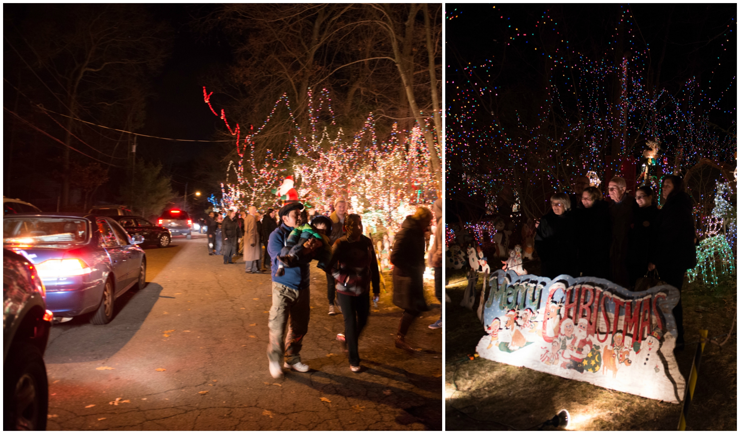 Midwood Rd. was packed on Christmas day with visitors lining up to see the display!