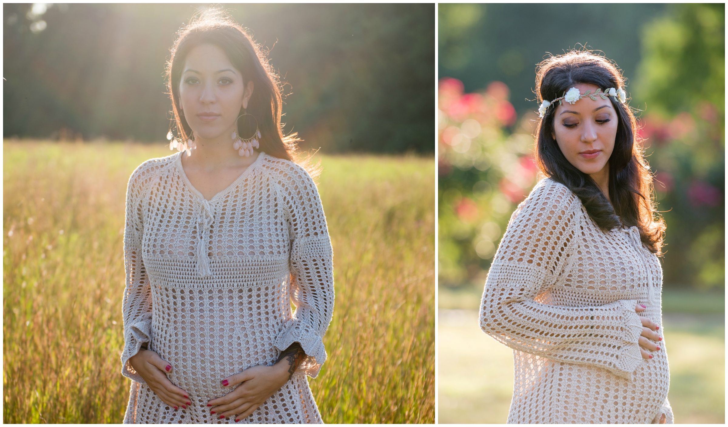 I am in love with the light in these maternity portraits. The way the sunlight catches the hair adds so much to these images.
