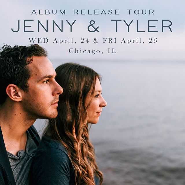 Come see @jennyandtyler on Friday in Naperville.  Great music and great people. These guys have great hearts for social justice and put on a great show. Check it out. I'll be there!  Info below: 4/26 Naperville What: GRAND OPENING SHOW: Jenny & Tyler w/ Jen Rim & Jeremiah Higgins Where: Heininger Auditorium | 309 E. School St., Naperville, IL When: Friday, April 26, 2019 - 7p DOORS / 7:30p SHOW Tix & Info: http://bit.ly/jt42619 About: The Union at North Central College in Naperville, IL holds a unique place in the hearts of Jenny & Tyler, as the duo has been performing there for nearly ten years. Now The Union has a new space!  To celebrate the grand opening, Jenny & Tyler are planning to perform with Jen Rim and Jeremiah Higgins as supporting acts. Expect a simplified/intimate setup, like a living room concert, with Jen Rim joining Jenny & Tyler on violin for a portion of their set. Also expect to hear themes of identity, justice, and beauty throughout the songs and stories of the night. Come with song requests!