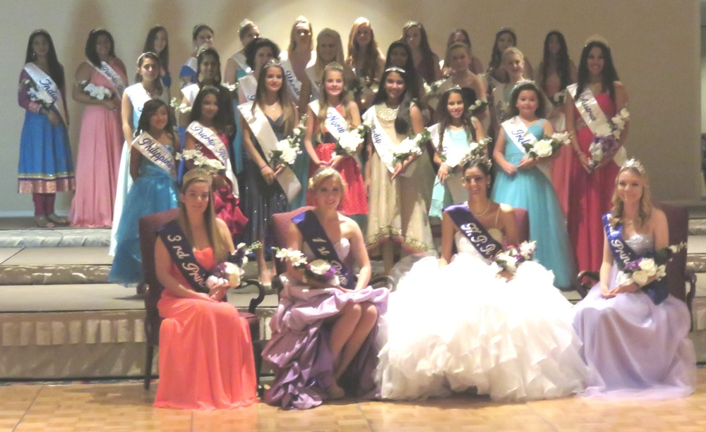 House of Pacific Relations Queens and Princesses at Coronation Banquet, November 2014