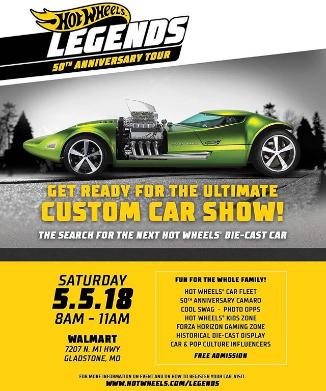 The Hot Wheels Legends Tour will be coming to Kansas City this Saturday! Is your custom car worthy of being a Hot Wheels Die-cast? Tag someone in KC or Register it at www.hotwheels.com/legends | #hotwheelslegends #hotwheels50 @hotwheelsofficial