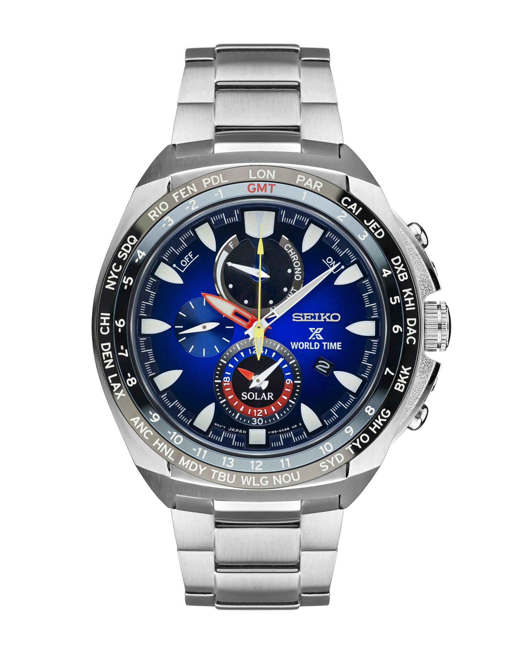 Seiko Prospex Ssc549 World Timer Solar Mens Blue Dial Watch Expert