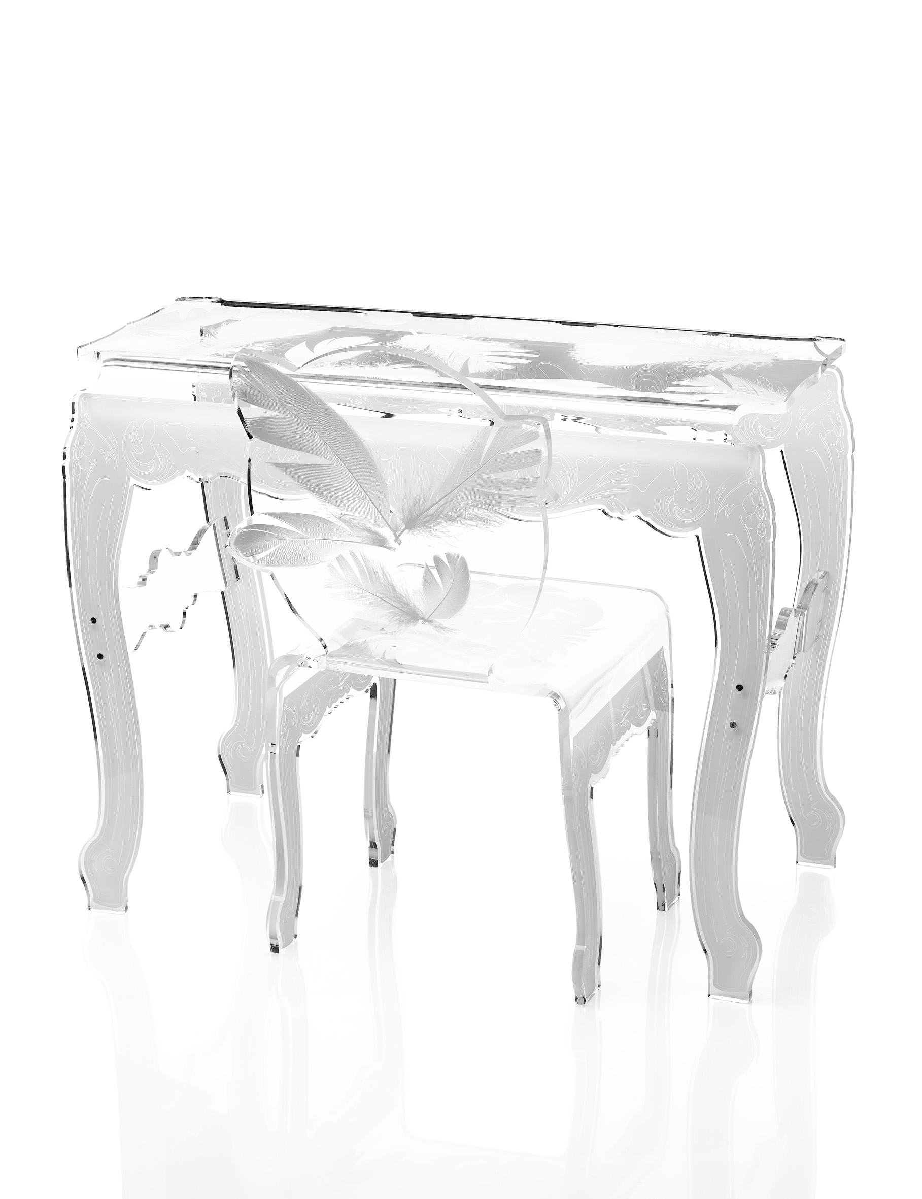 chaise console plume blanche.jpg