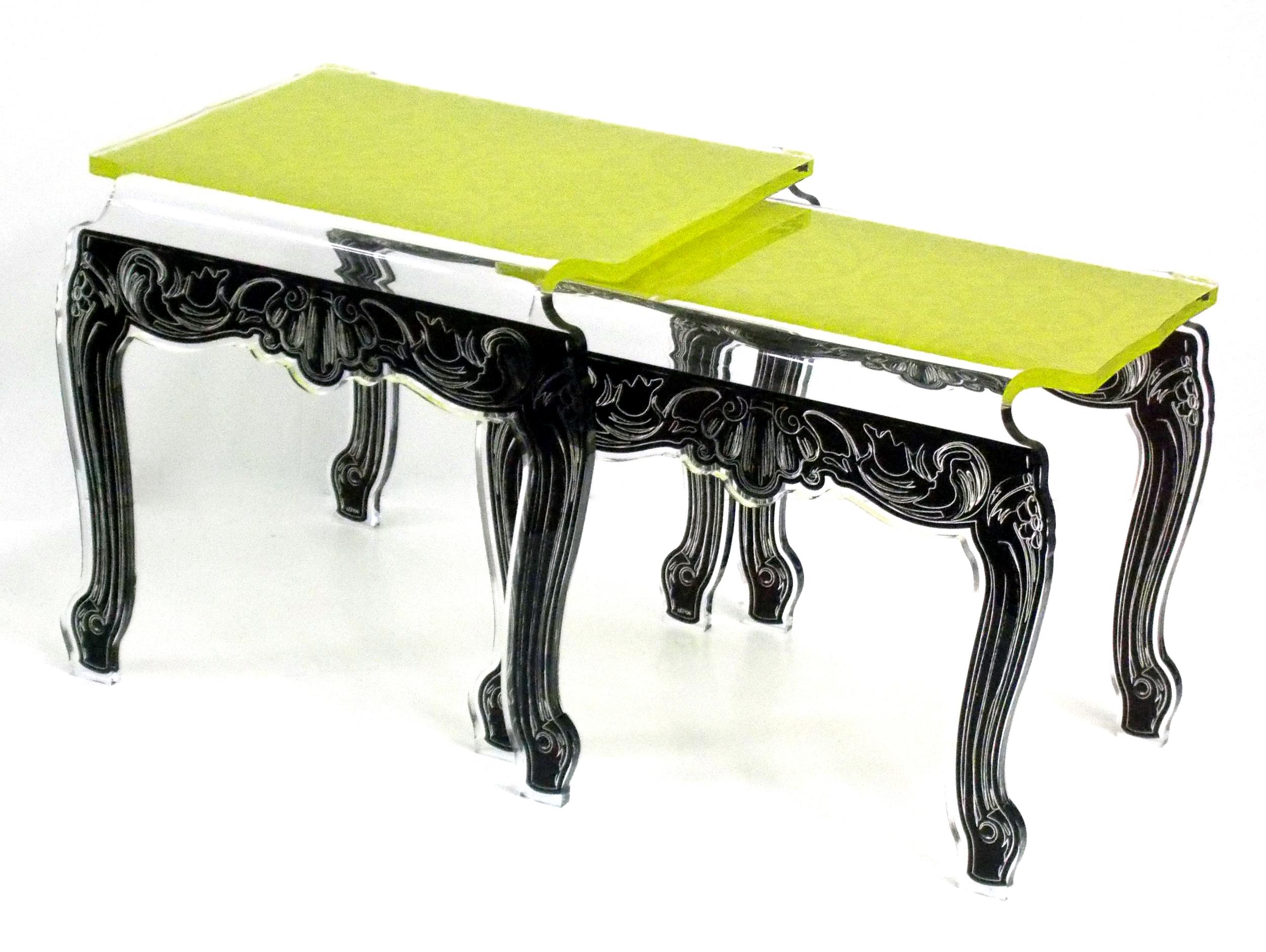 nesting table gigogne baroque verte.jpg