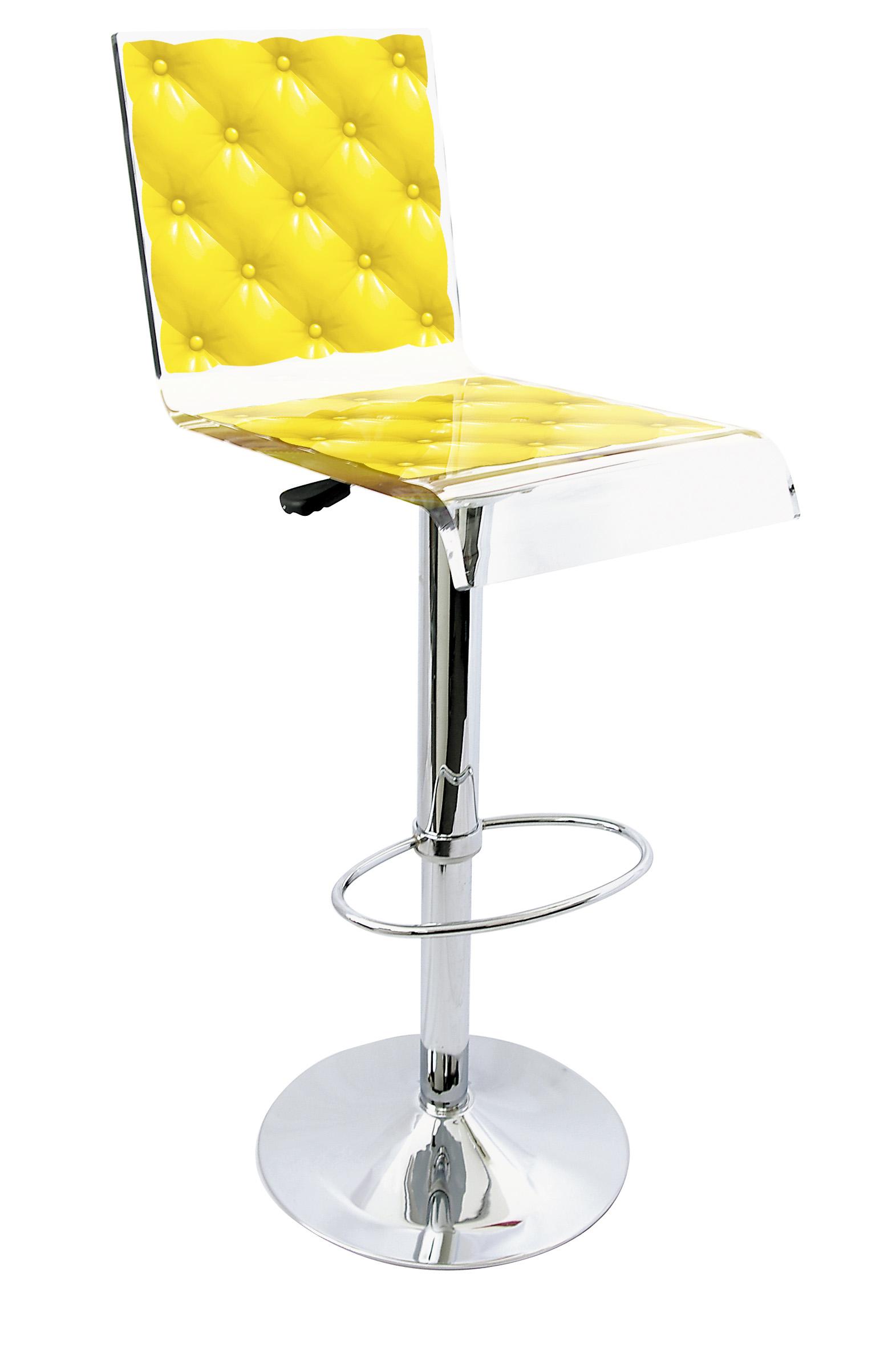 Barstool Pedestal Yellow