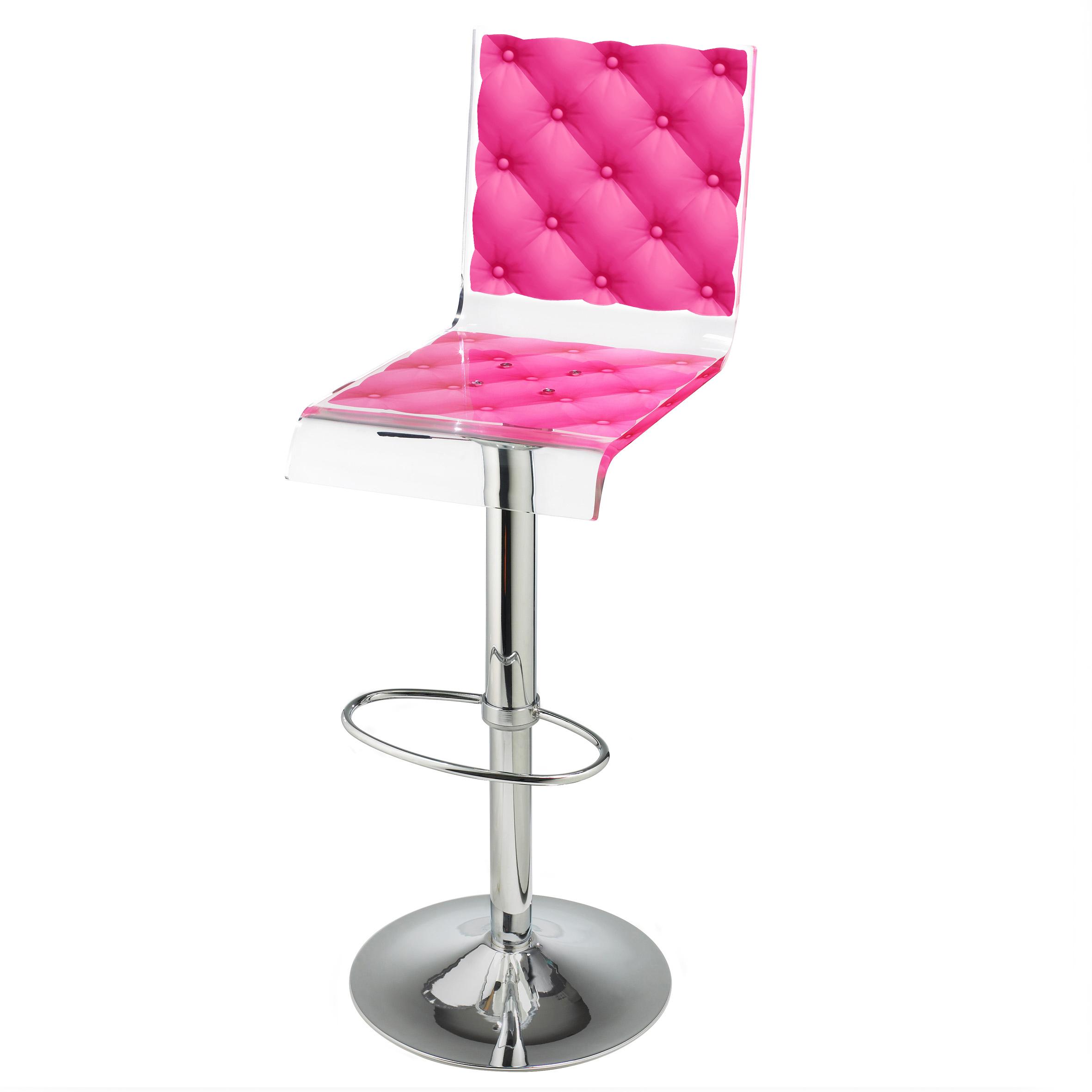 Barstool Pedestal Pink