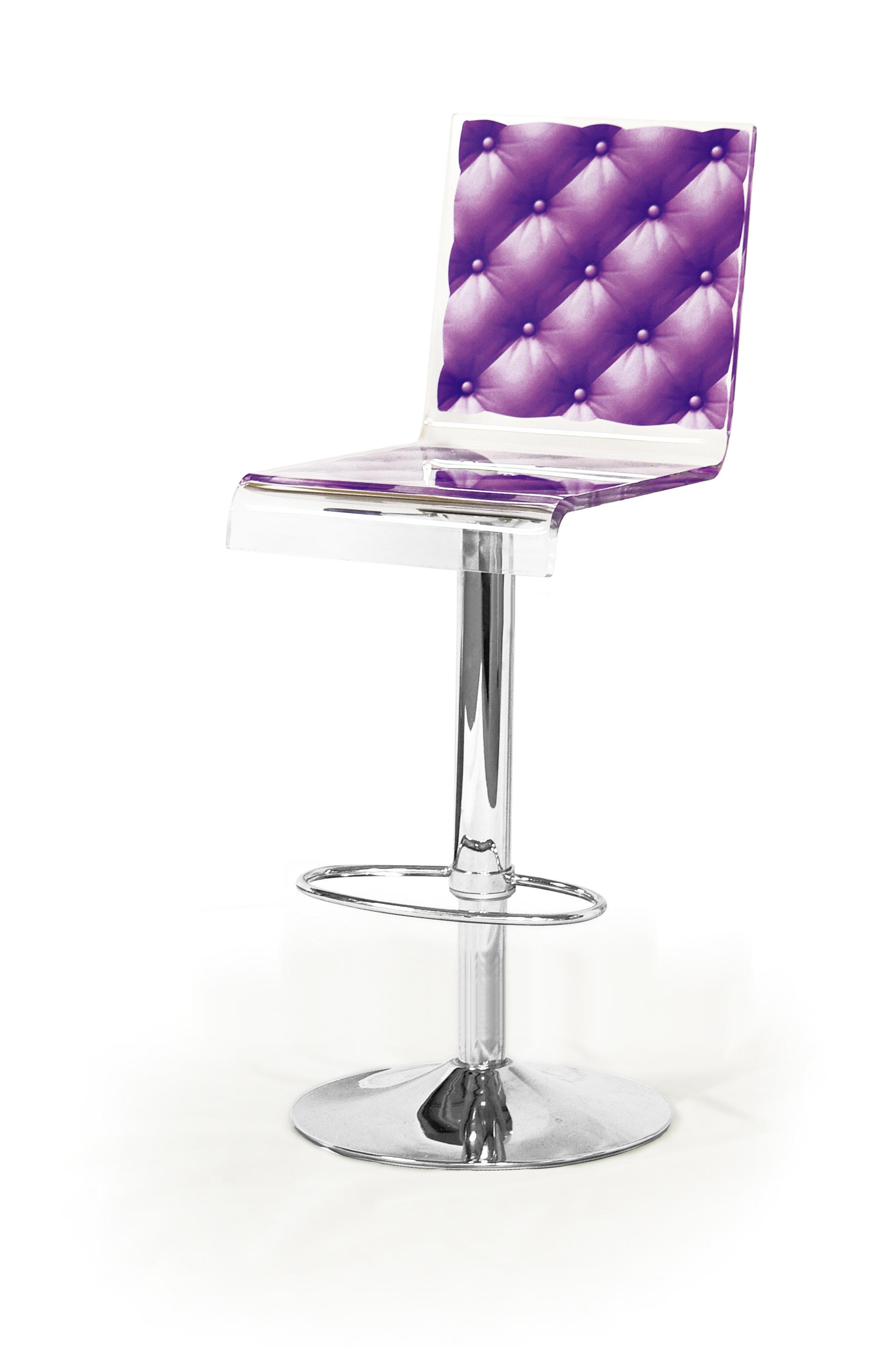 Barstool Pedestal Purple