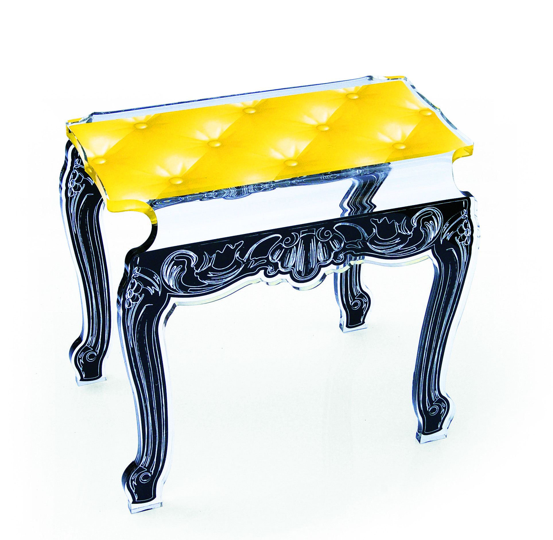 Side Table or Bench Yellow