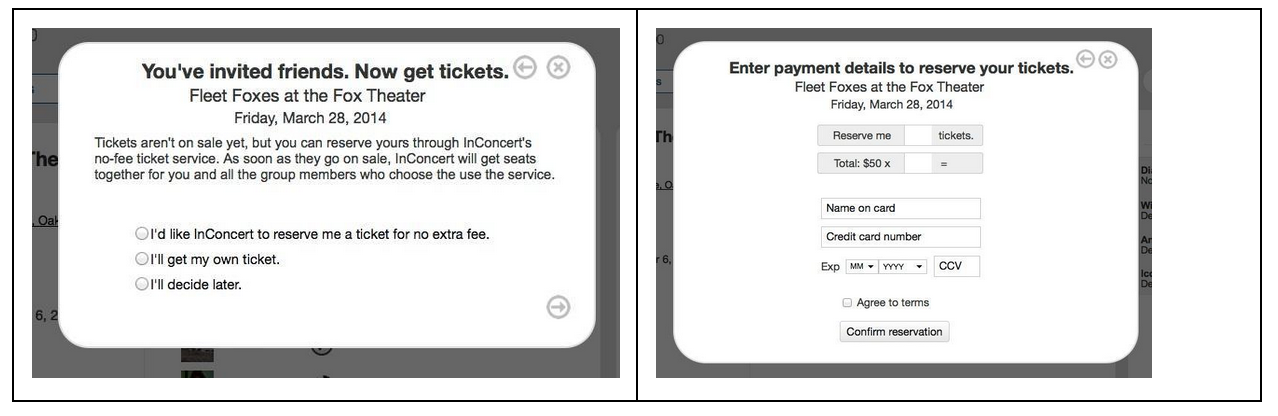 Ticket buying for customers