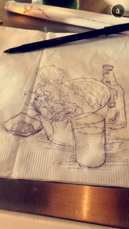 Sometimes I do go out, but I always draw stuff.